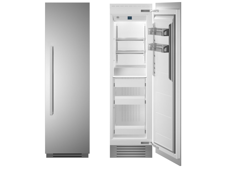 "Bertazzoni 24"" Built-in Freezer column - Stainless - Right hinge"