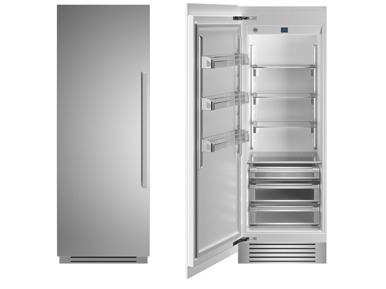 "Bertazzoni 30"" Built-in Refrigerator column - Stainless - Left hinge"