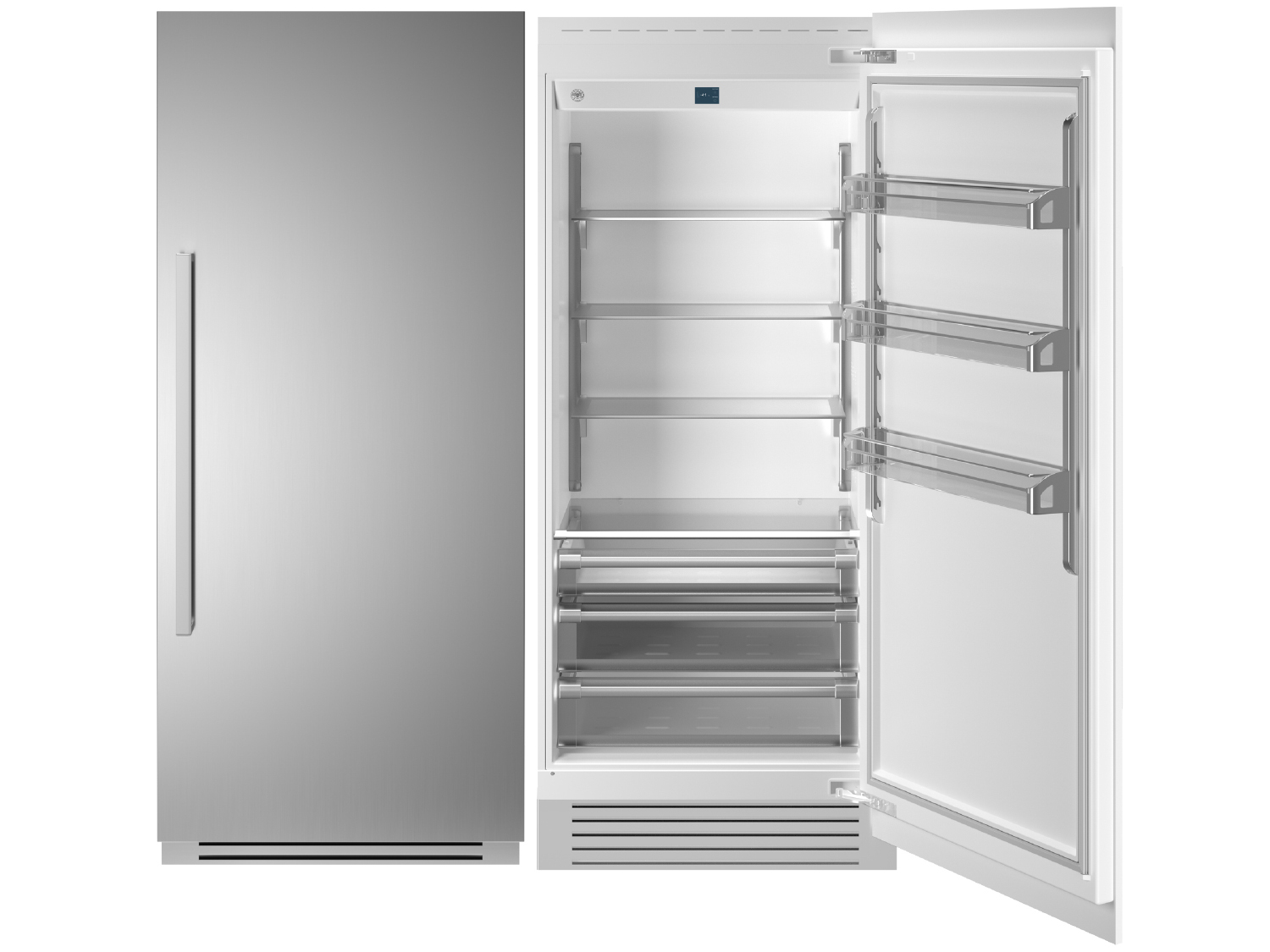 "Bertazzoni 36"" Built-in Refrigerator column - Stainless - Right hinge"