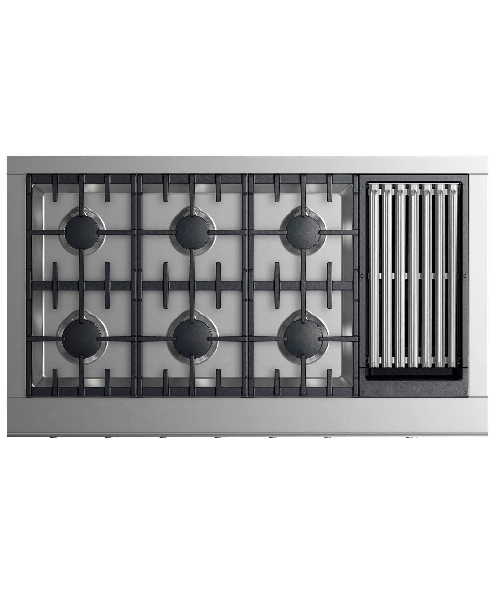 """Fisher and Paykel Gas Rangetop 48"""" 6 burners with grill"""