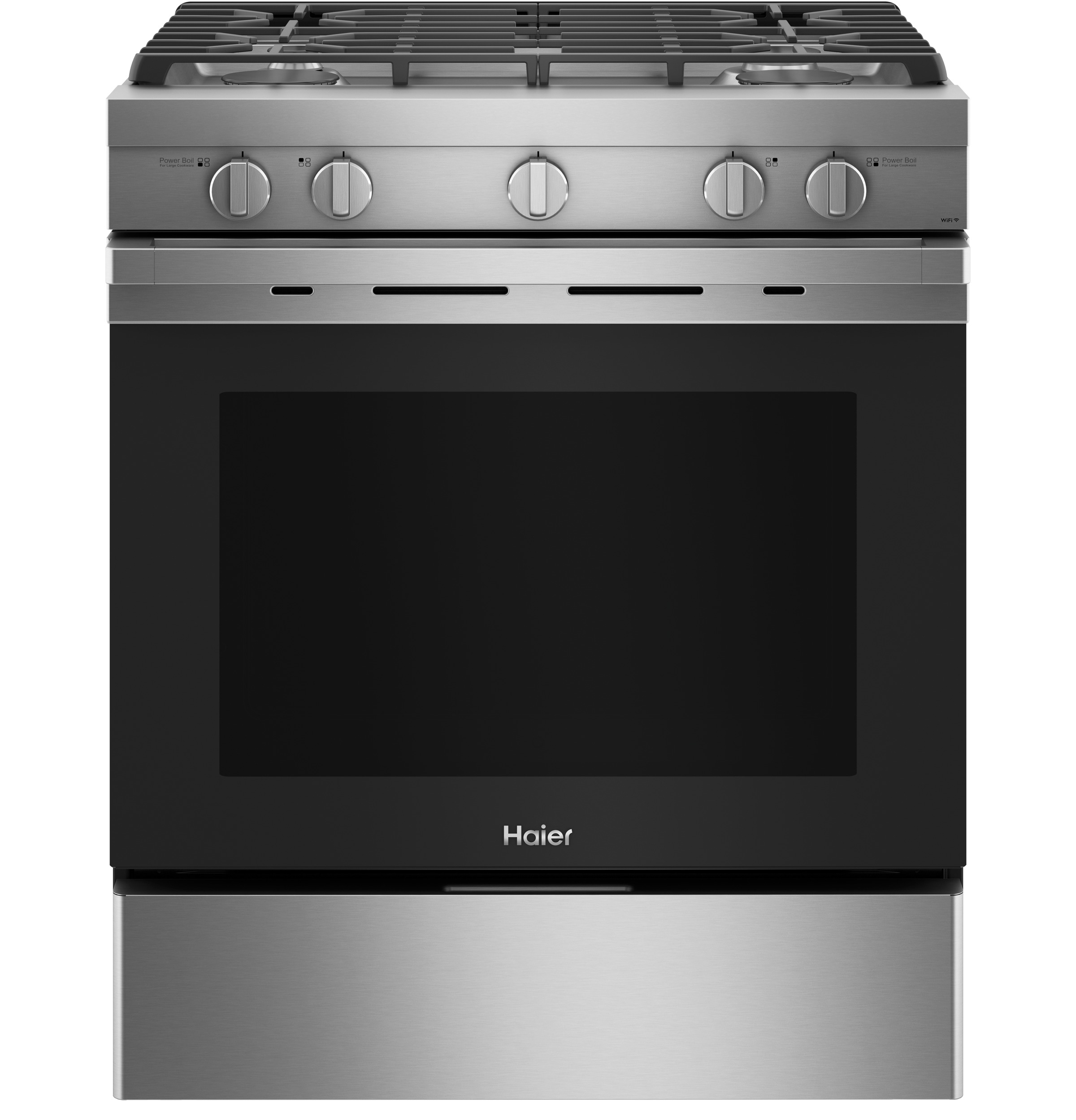 "Haier 30"" Smart Slide-In Gas Range with Convection"