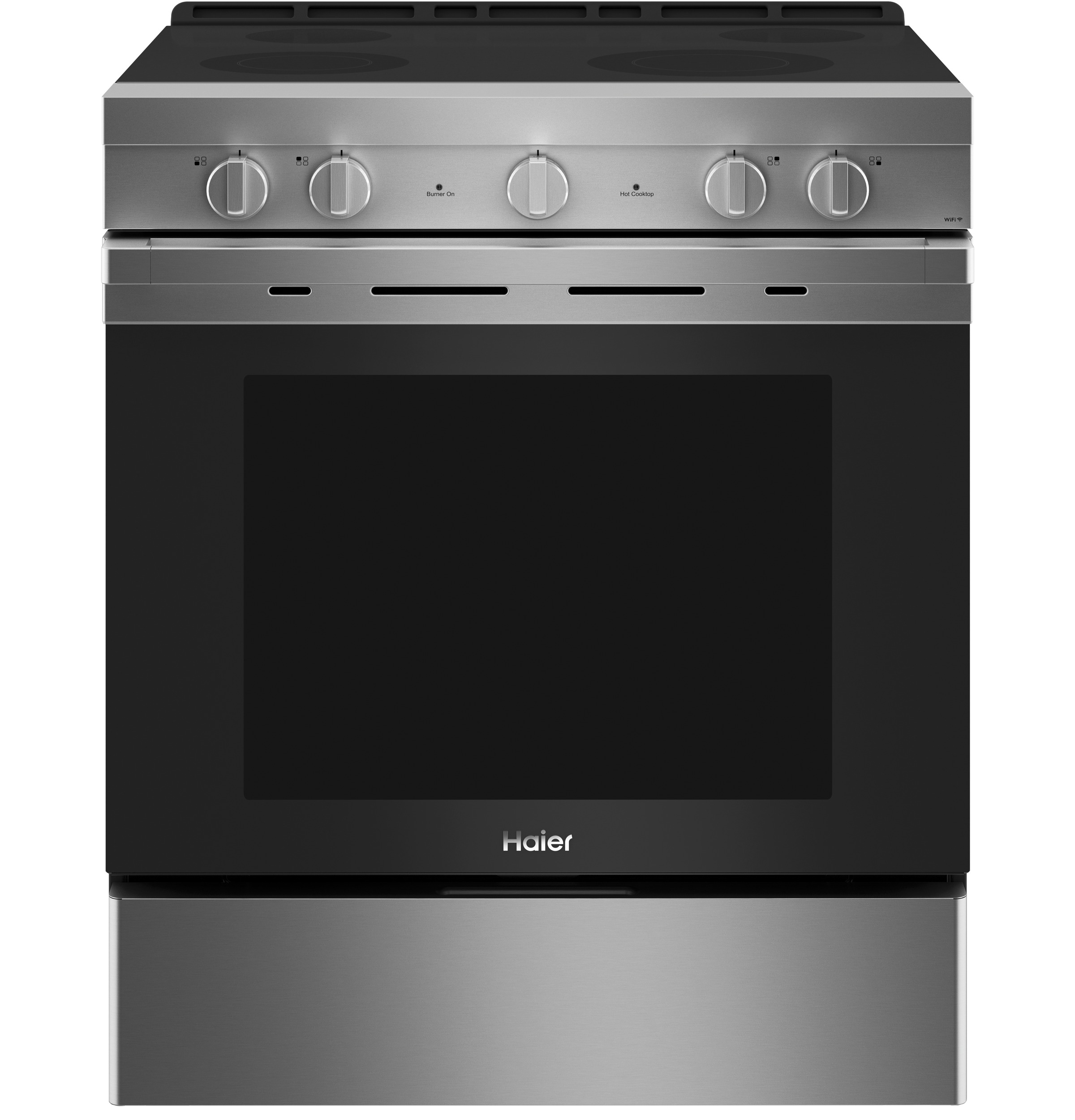 "Haier 30"" Smart Slide-In Electric Range with Convection"