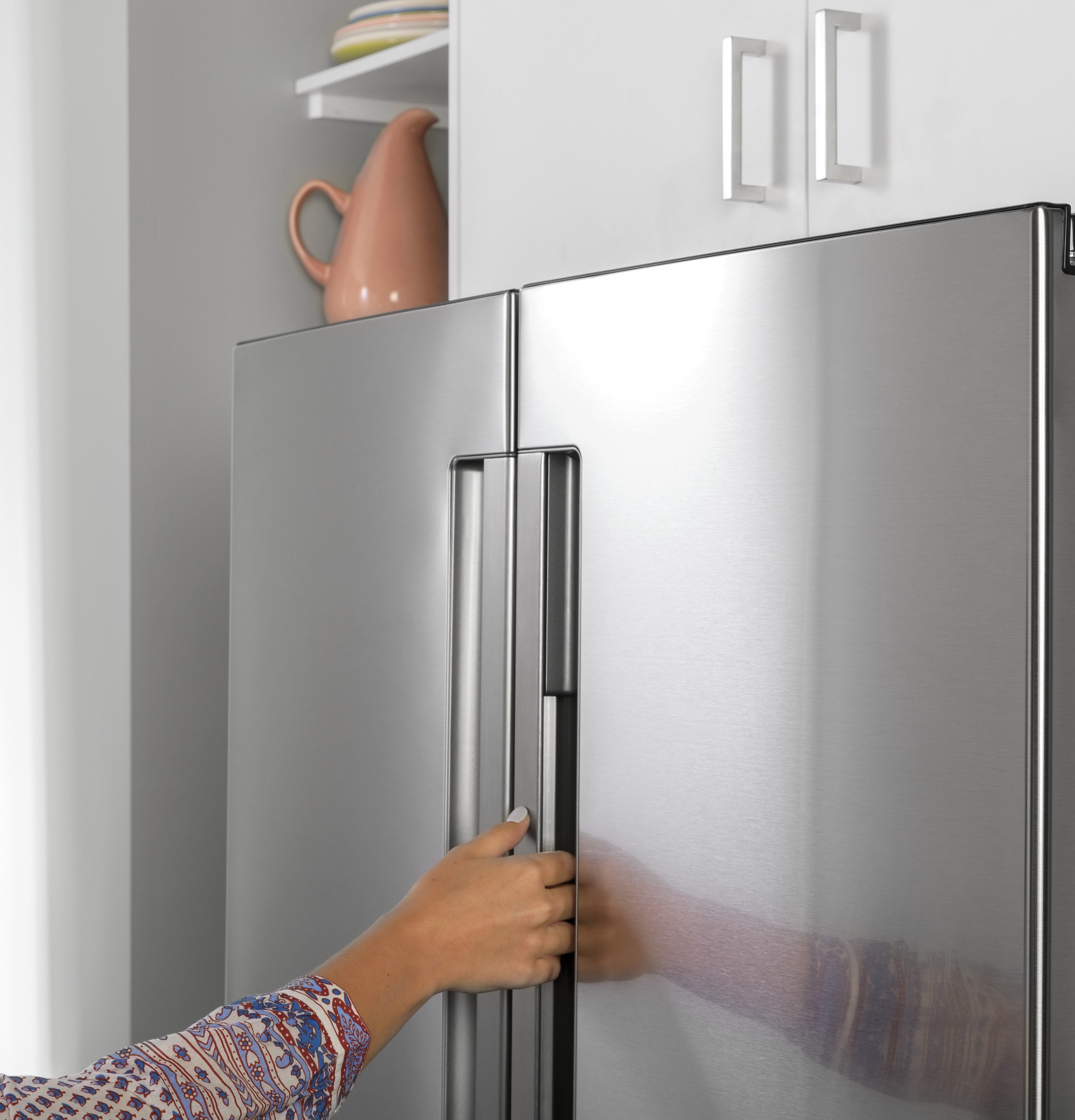 Model: QNE27JYMFS | Haier ENERGY STAR® 27.0 Cu. Ft. Fingerprint Resistant French-Door Refrigerator