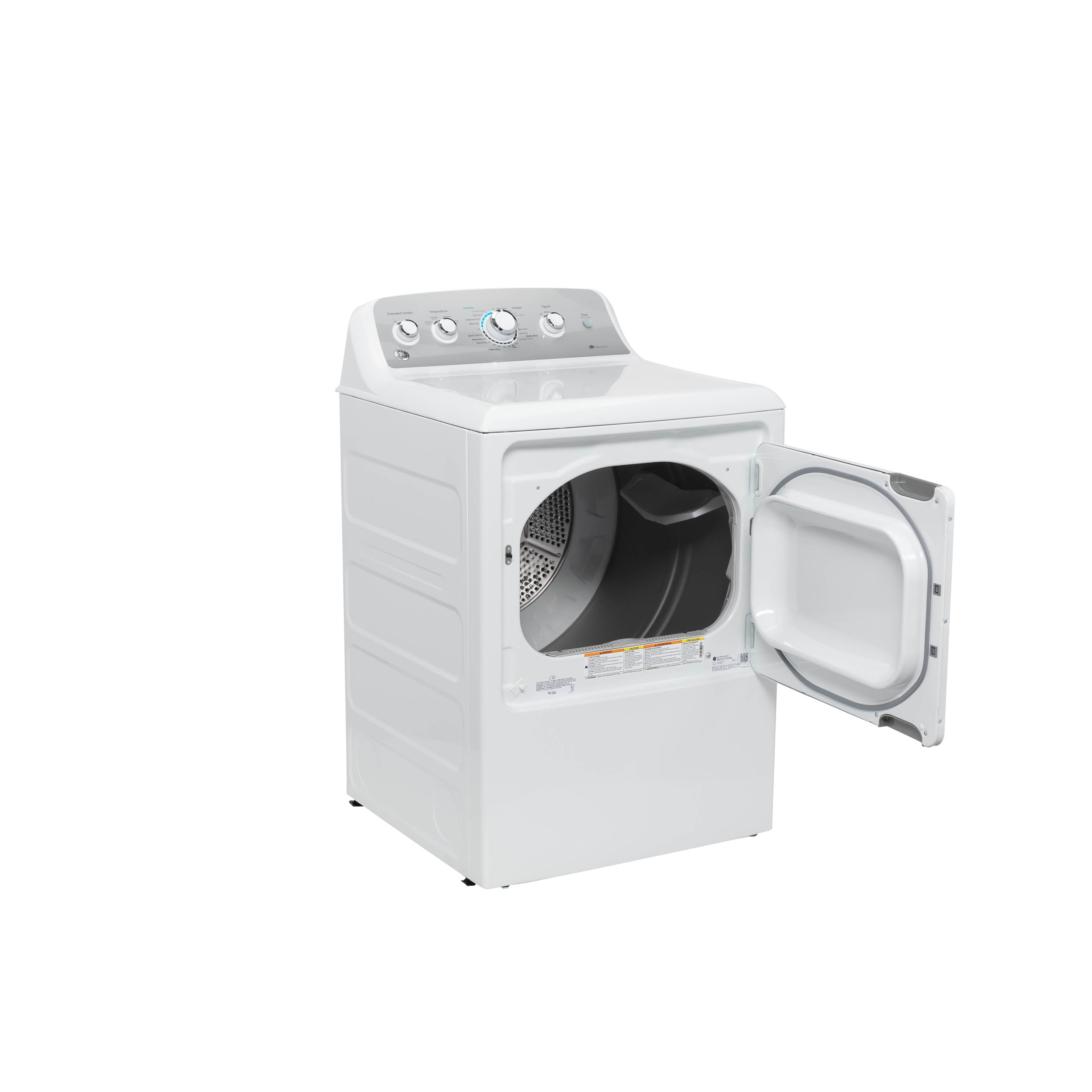 Model: GTD45GASJWS | GE GE® 7.2 cu. ft. Capacity aluminized alloy drum Gas Dryer with Sensor Dry