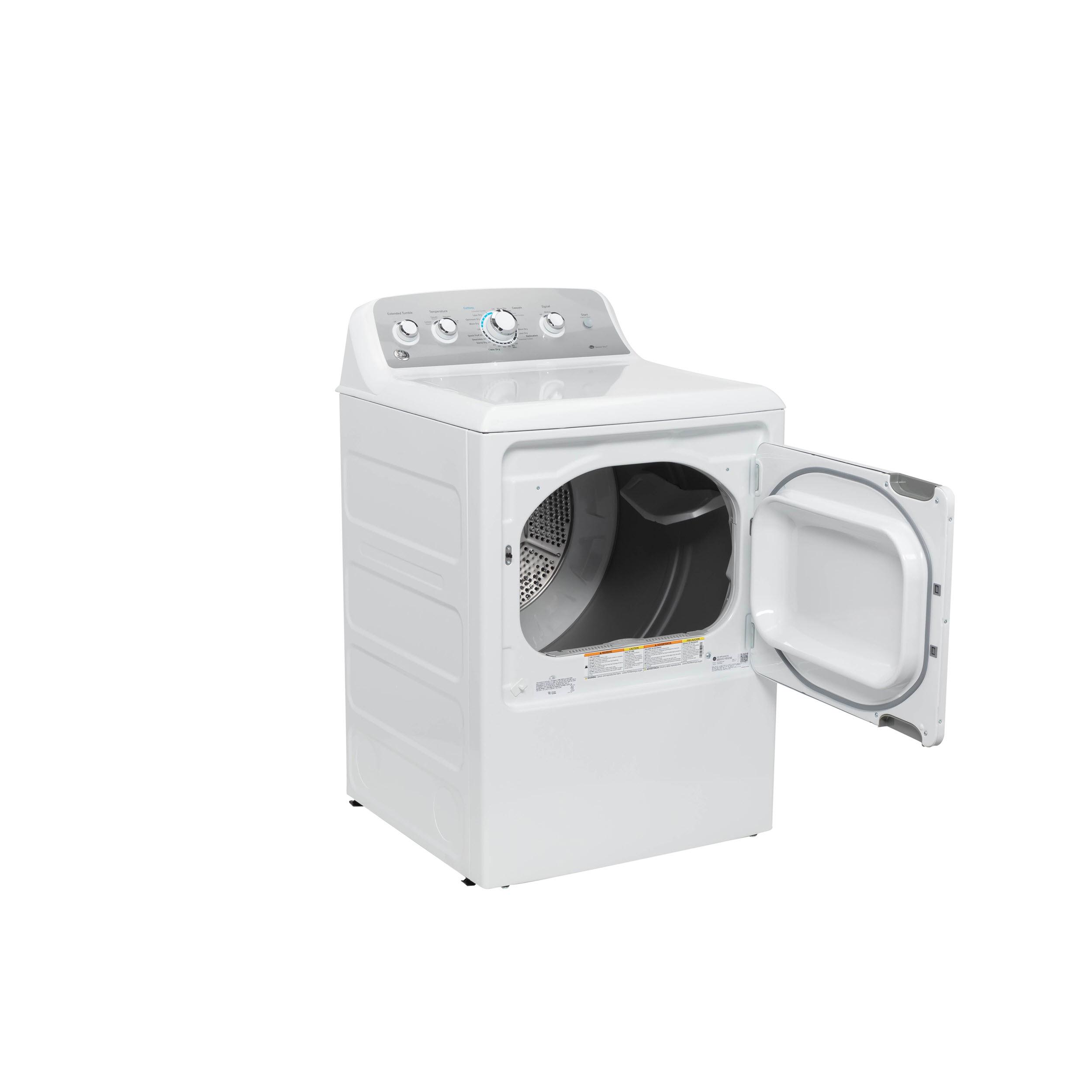 Model: GTD45GASJWS | GE GE® 7.2 cu. ft. Capacity aluminized alloy drum Gas Dryer with Sensor Dry