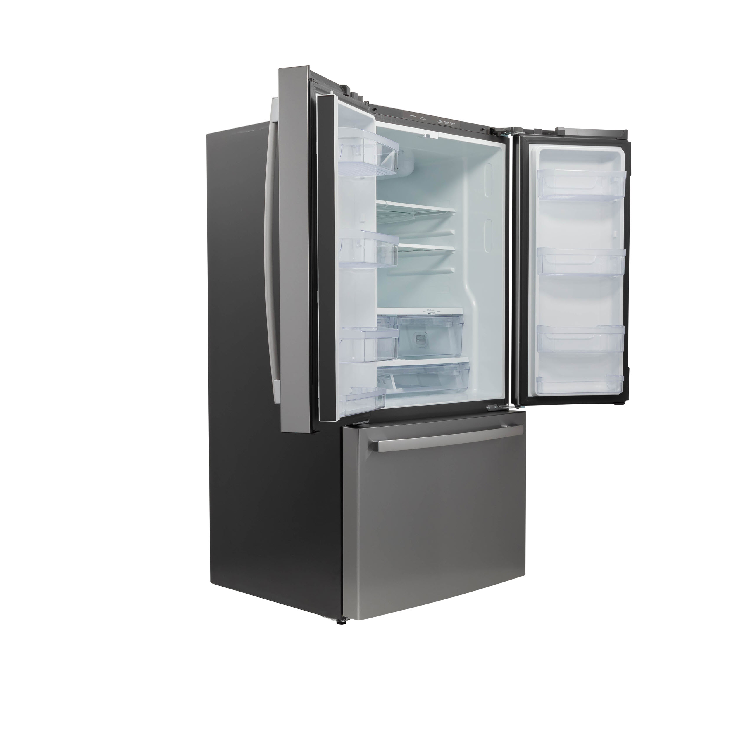 Model: GNE27JYMFS | GE GE® ENERGY STAR® 27.0 Cu. Ft. Fingerprint Resistant French-Door Refrigerator