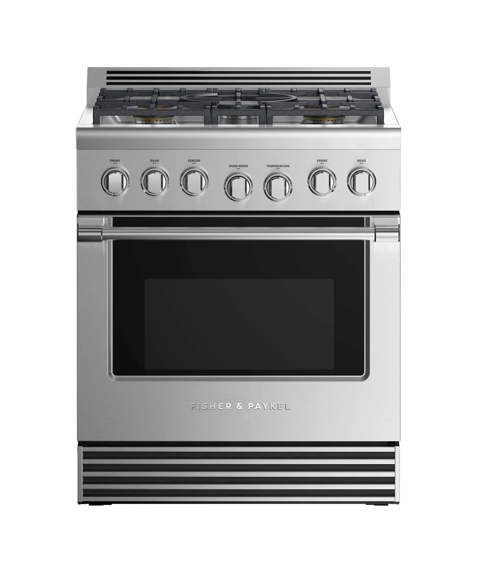 "Fisher and Paykel Gas Range 30"", 5 Burners"