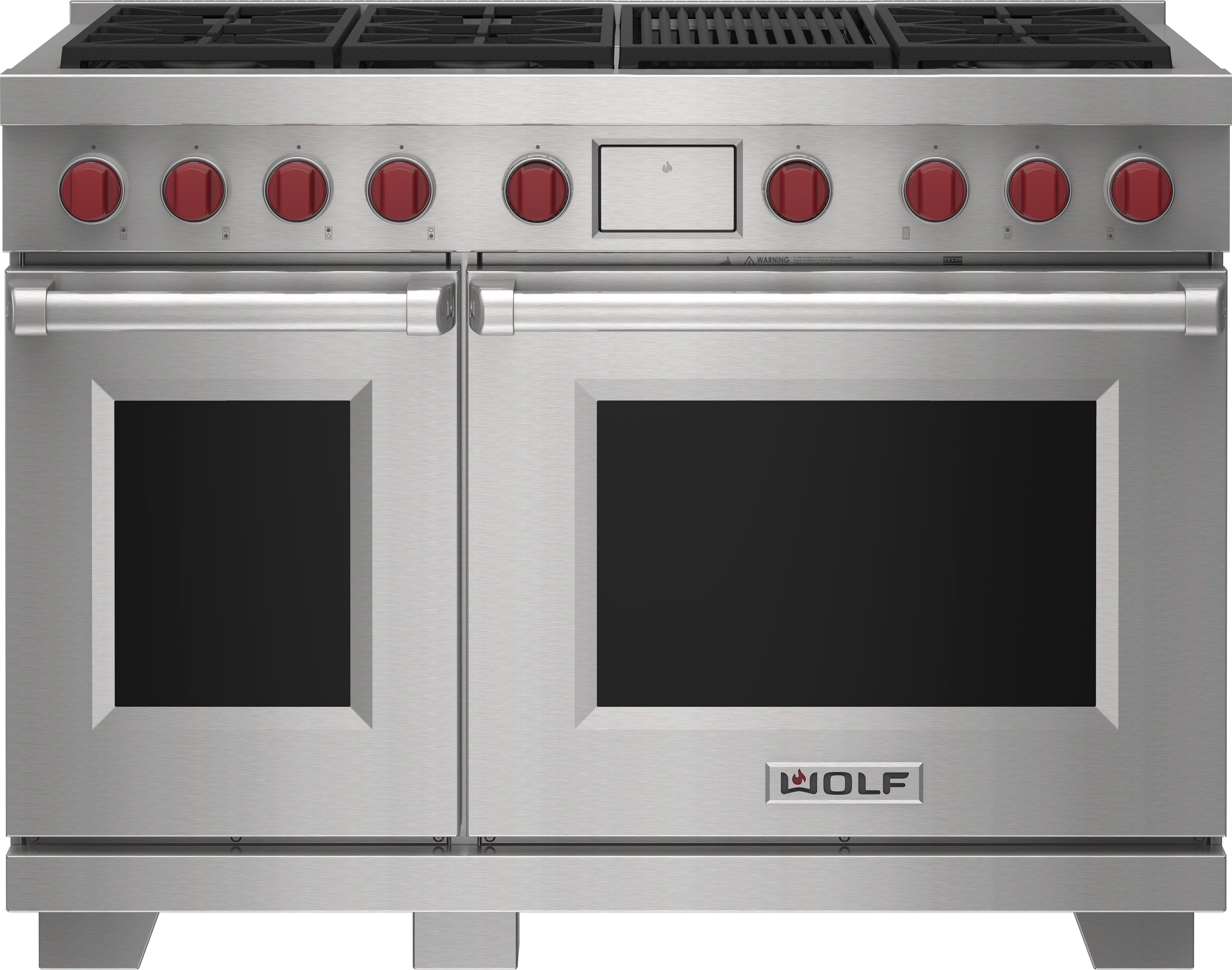 """Wolf 48"""" Dual Fuel Range - 6 Burners and Infrared Charbroiler"""
