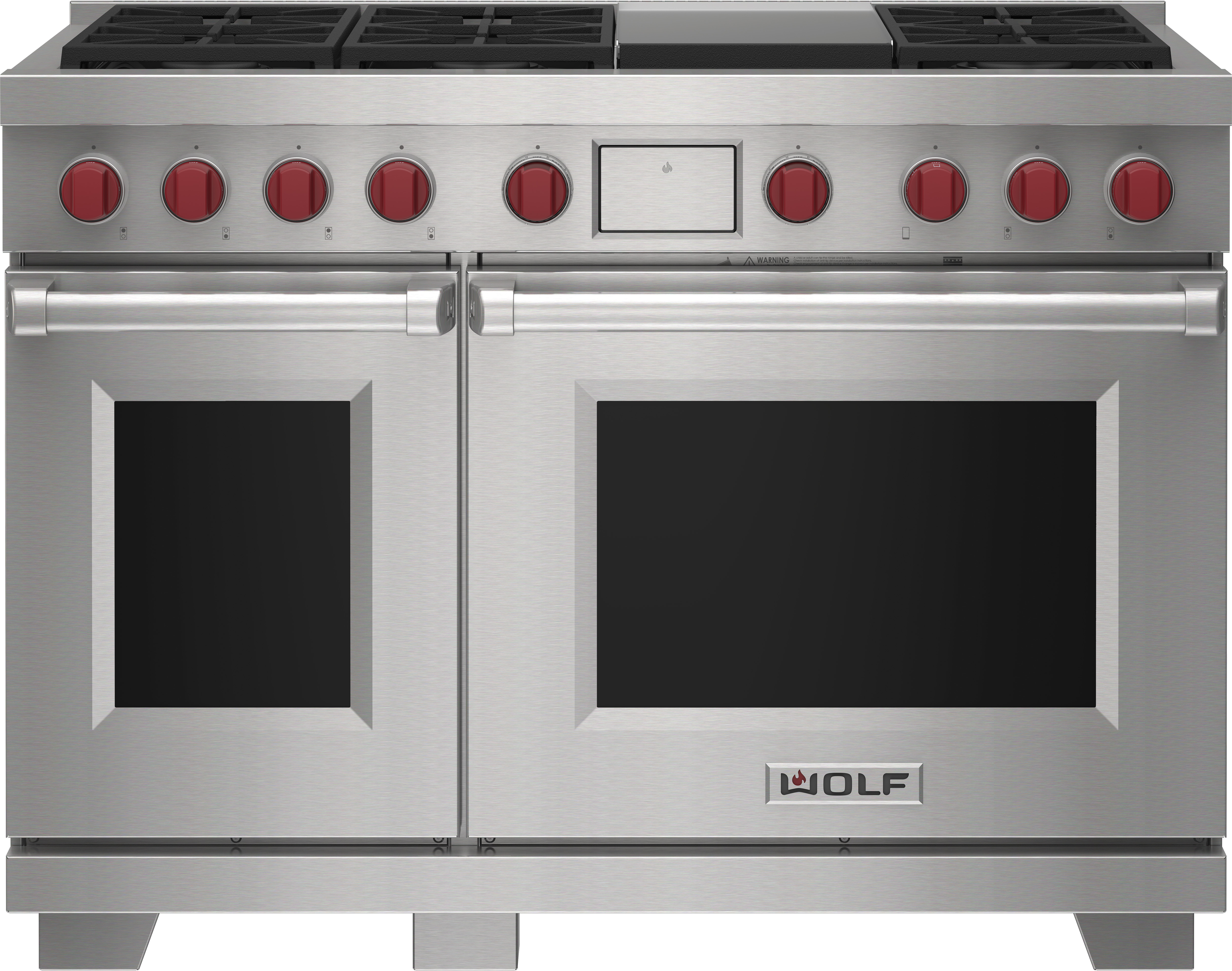 """Wolf 48"""" Dual Fuel Range - 6 Burners and Infrared Griddle"""