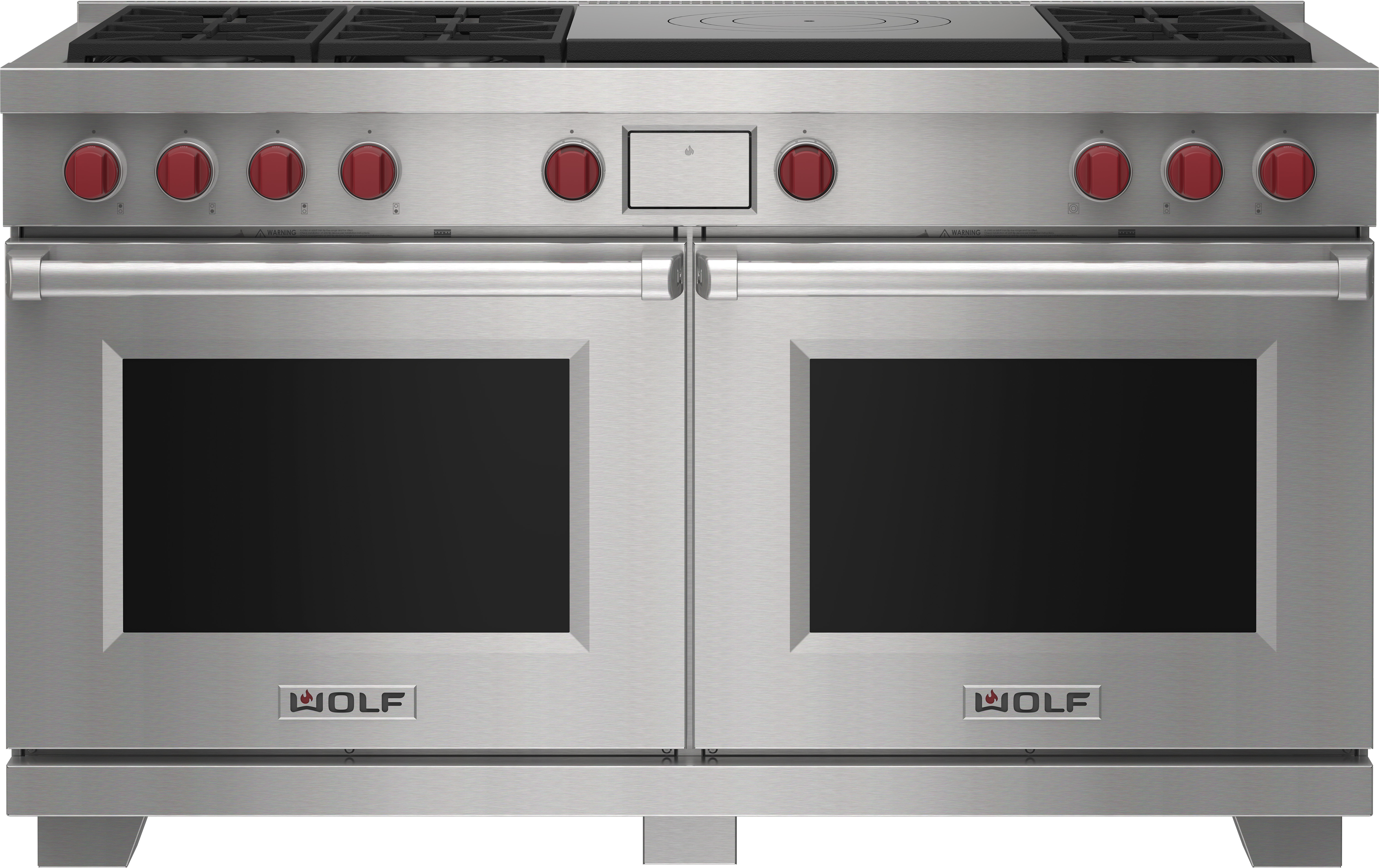 """Wolf 60"""" Dual Fuel Range - 6 Burners and French Top"""
