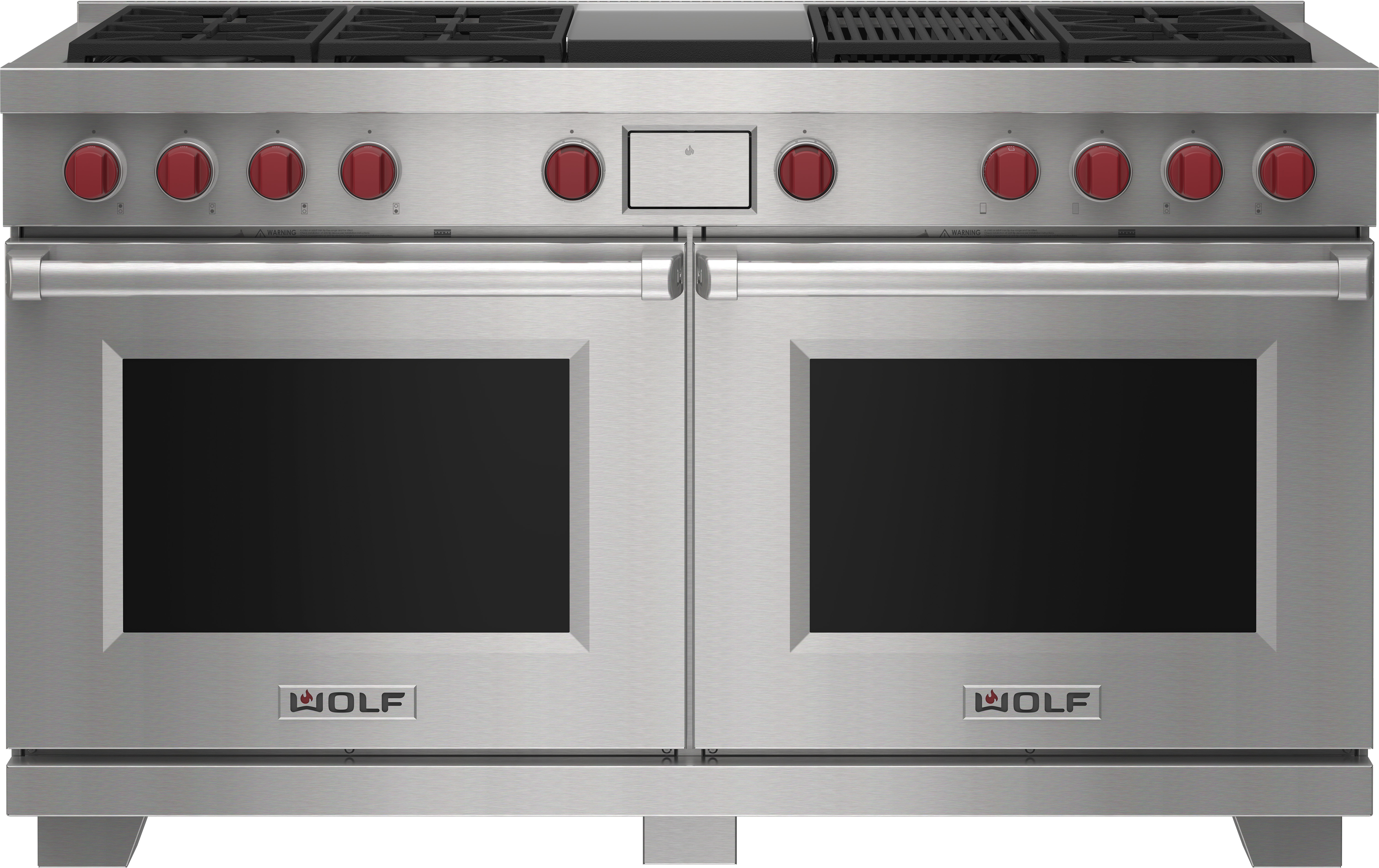 """Wolf 60"""" Dual Fuel Range - 6 Burners, Infrared Charbroiler and Infrared Griddle"""