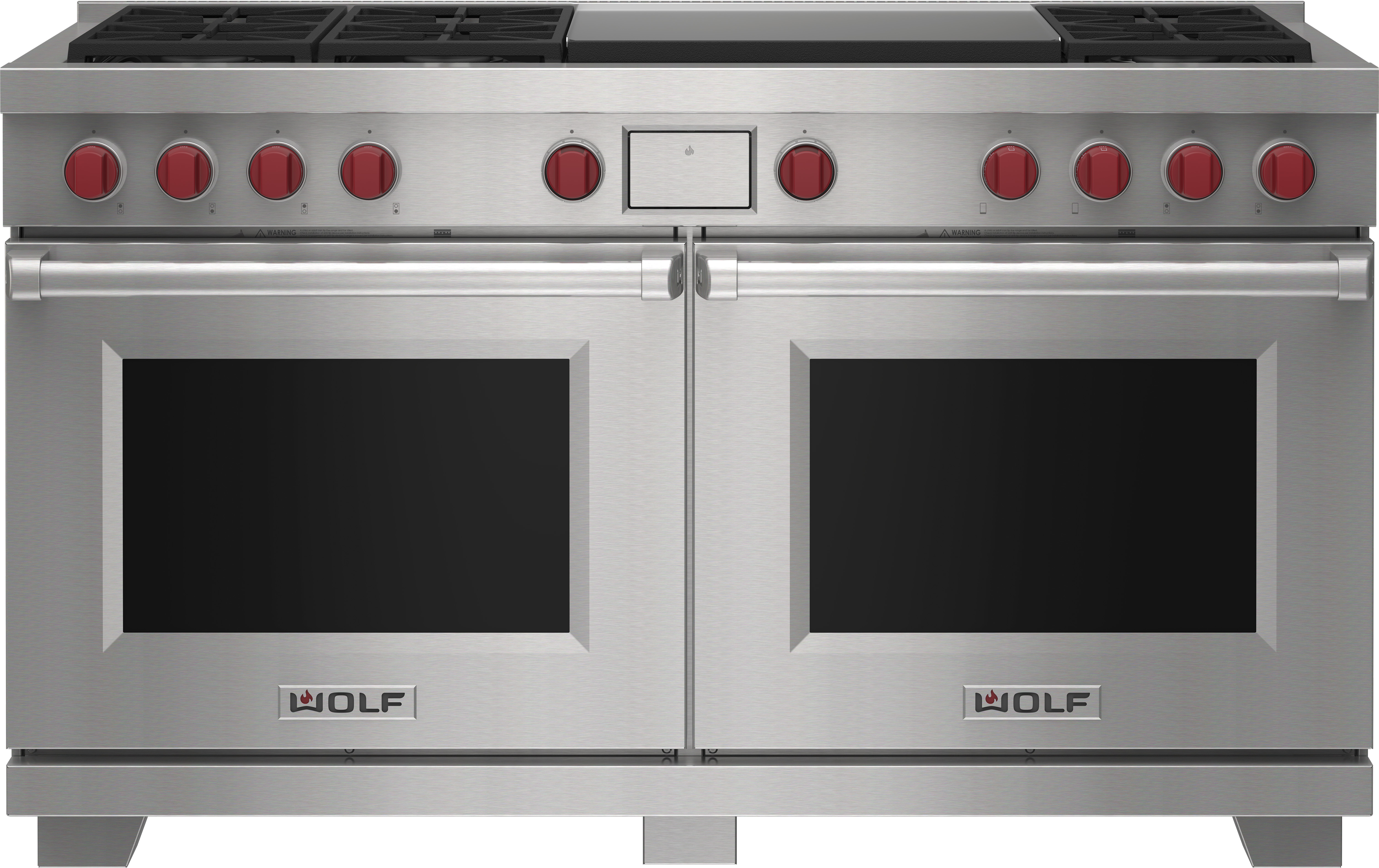 """Wolf 60"""" Dual Fuel Range - 6 Burners and Infrared Dual Griddle"""
