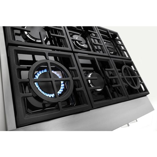 Model: KCGC506JSS | KitchenAid KitchenAid® 36'' 6-Burner Commercial-Style Gas Rangetop