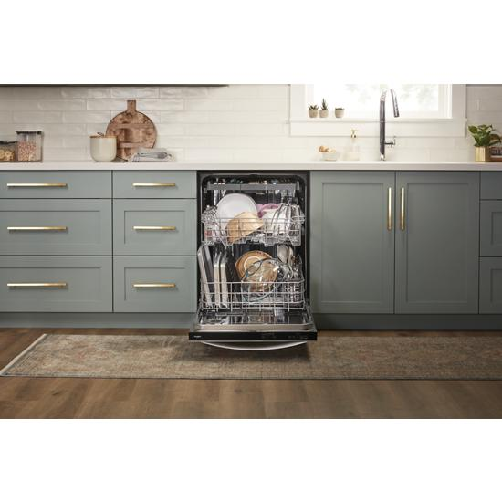 Model: WDT750SAHZ | Whirlpool Stainless Steel Tub Dishwasher with TotalCoverage Spray Arm