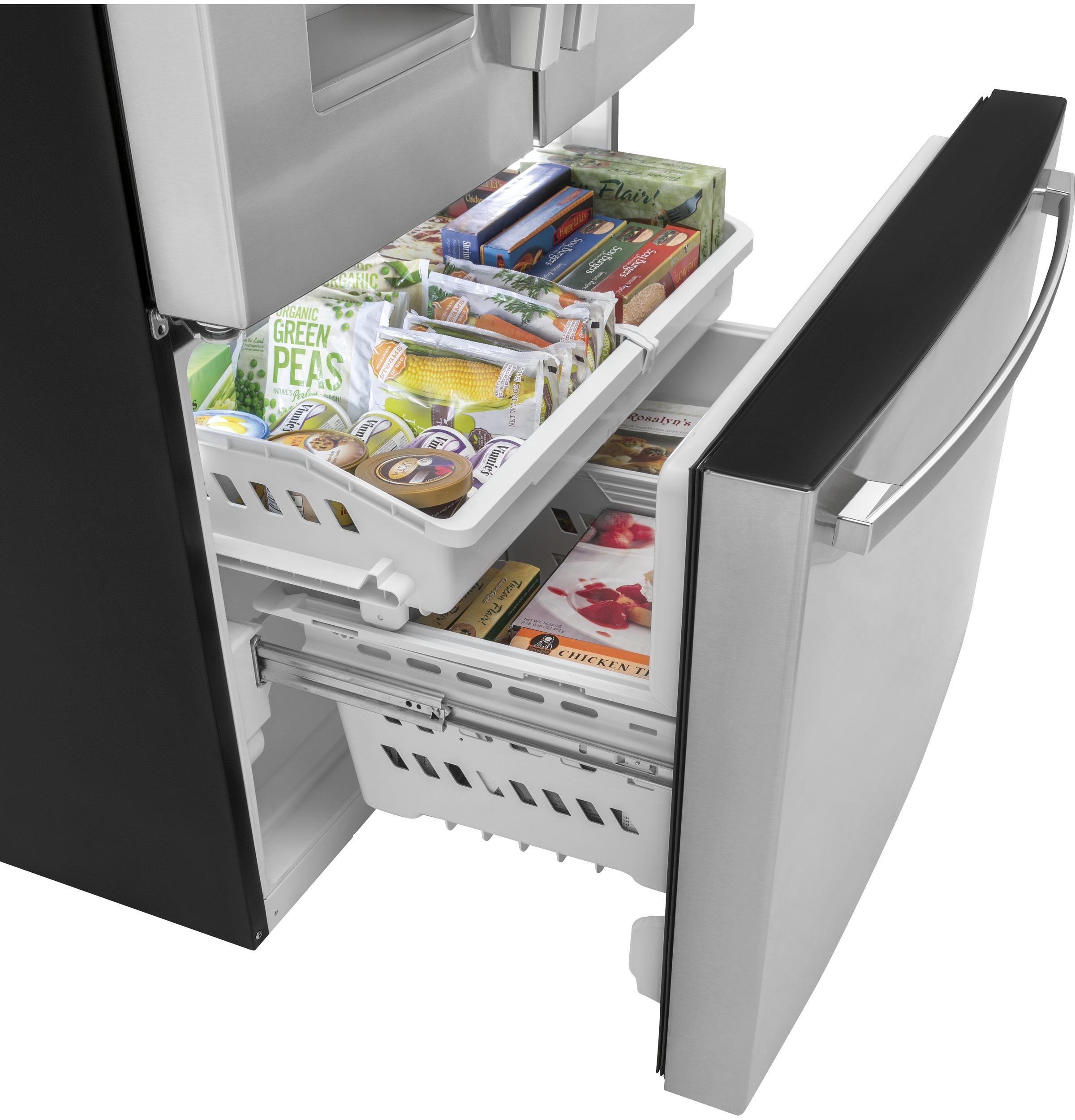 Model: GYE18JSLSS | GE GE® ENERGY STAR® 17.5 Cu. Ft. Counter-Depth French-Door Refrigerator
