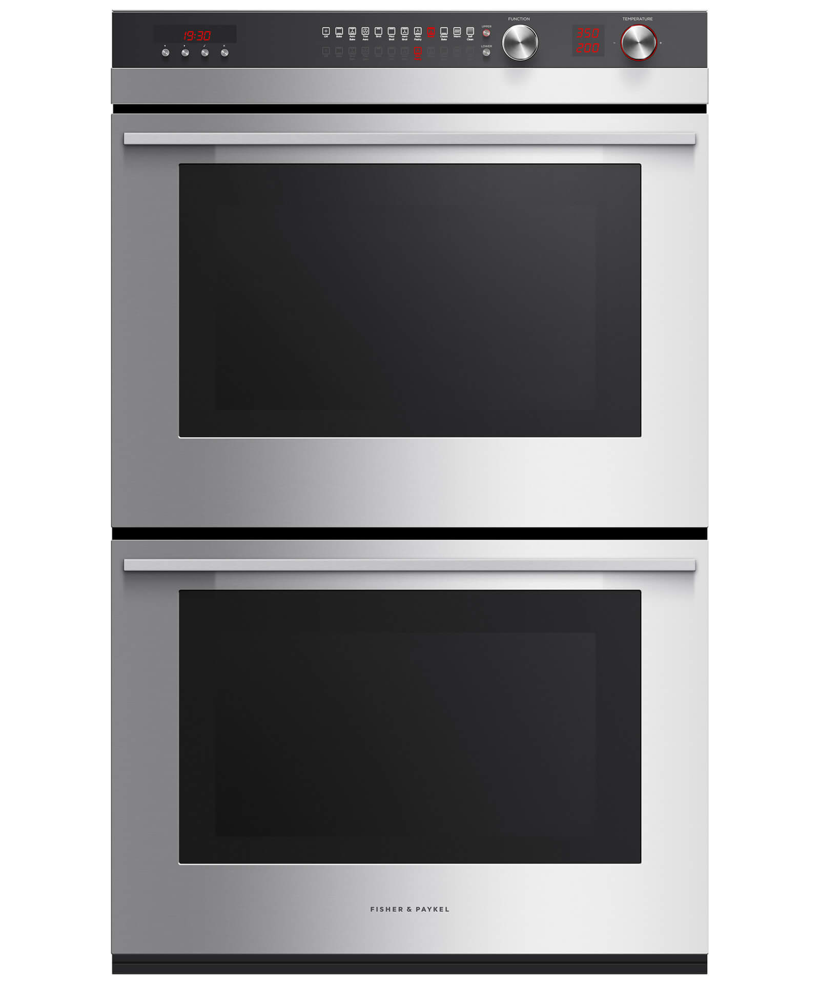 """Fisher and Paykel Double Built-in Oven, 30"""" 8.2 cu ft, 11 Function"""