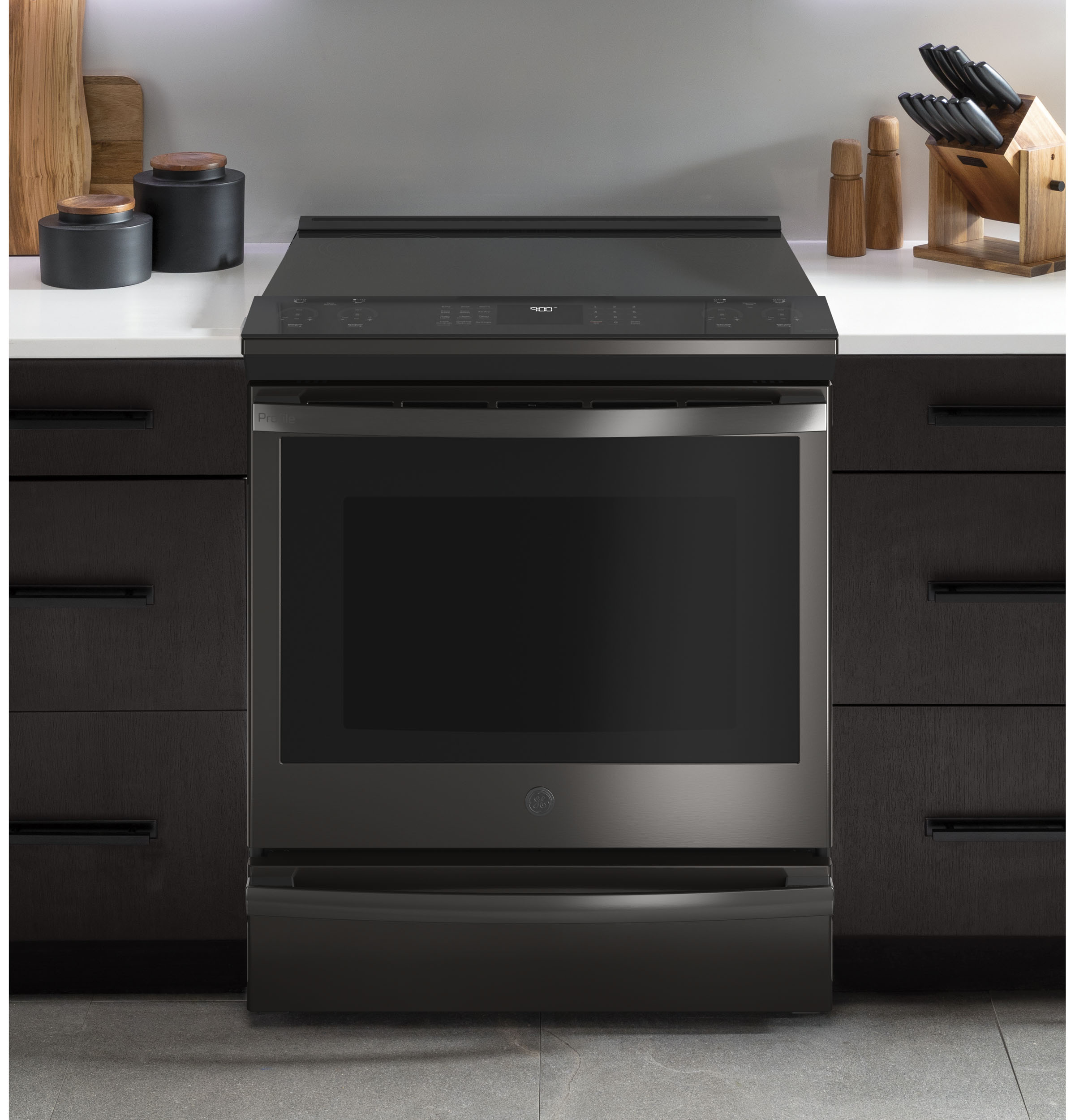 "Model: PHS930BPTS | GE Profile GE Profile™ 30"" Smart Slide-In Front-Control Induction and Convection Range with No Preheat Air Fry"