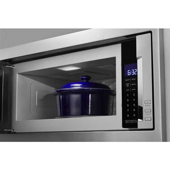 Model: KMBT5011KSS | KitchenAid 1000 Watt Built-In Low Profile Microwave with Slim Trim Kit