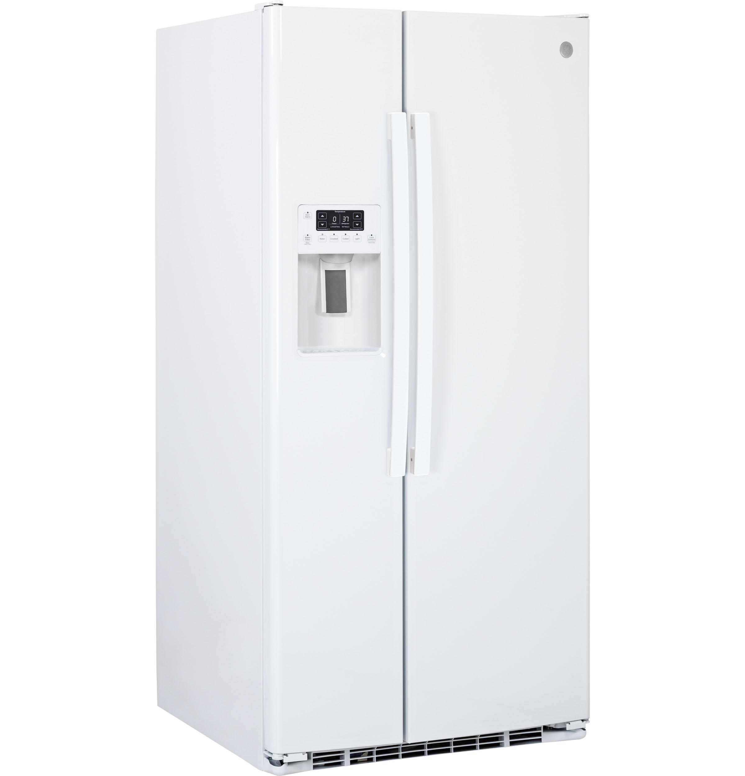 Model: GSE23GGKWW   GE GE® ENERGY STAR® 23.2 Cu. Ft. Side-By-Side Refrigerator