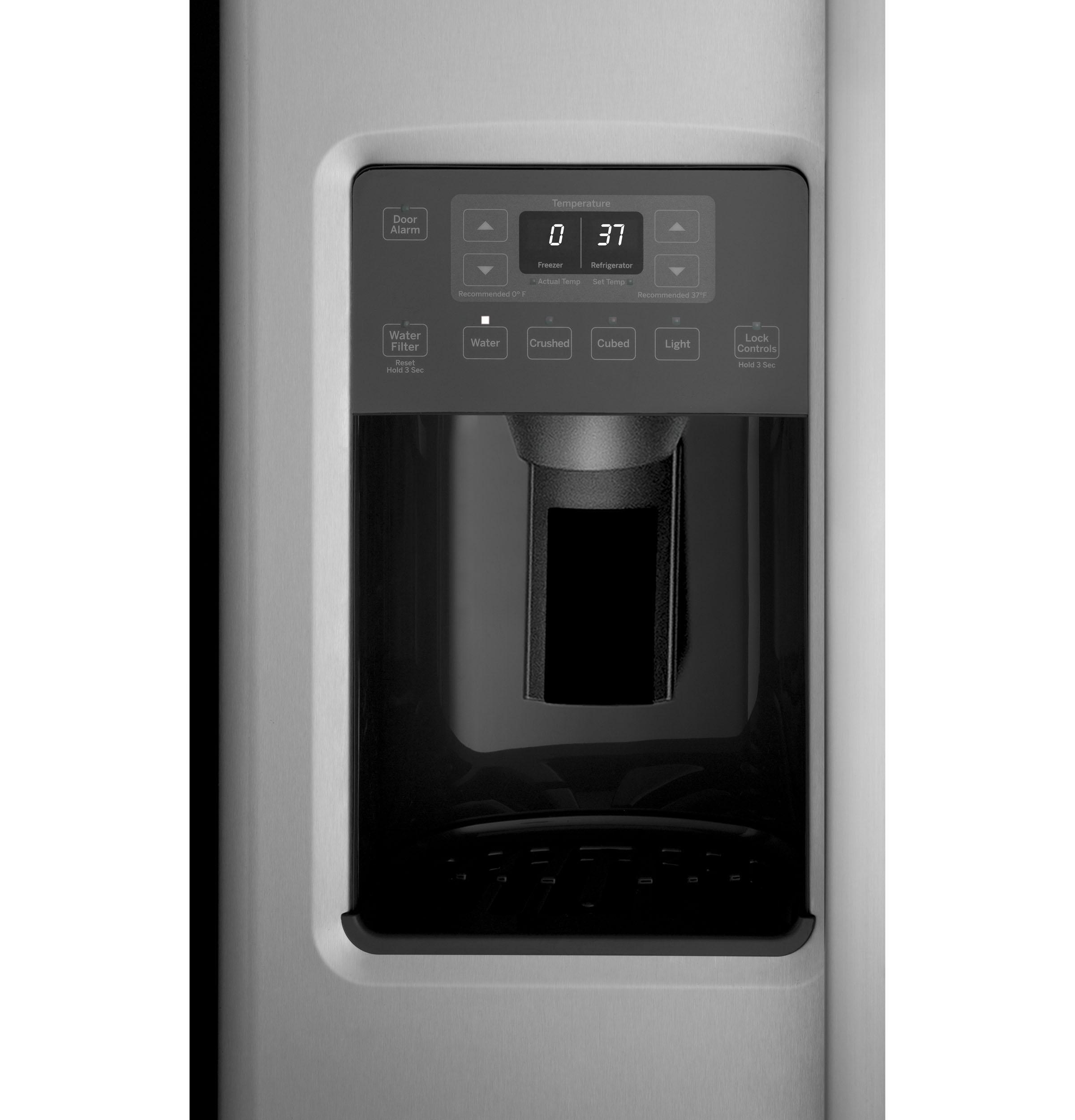 Model: GSS23GSKSS | GE GE® 23.2 Cu. Ft. Side-By-Side Refrigerator