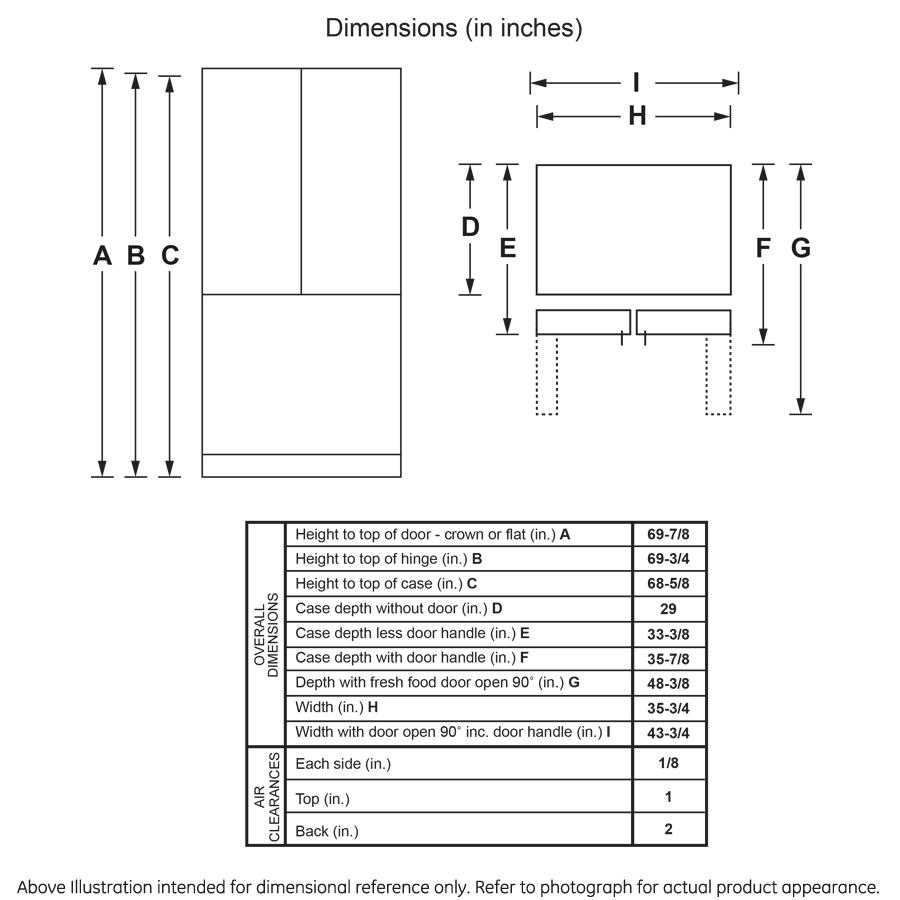 Model: GNE27JMMES | GE GE® ENERGY STAR® 27.0 Cu. Ft. French-Door Refrigerator
