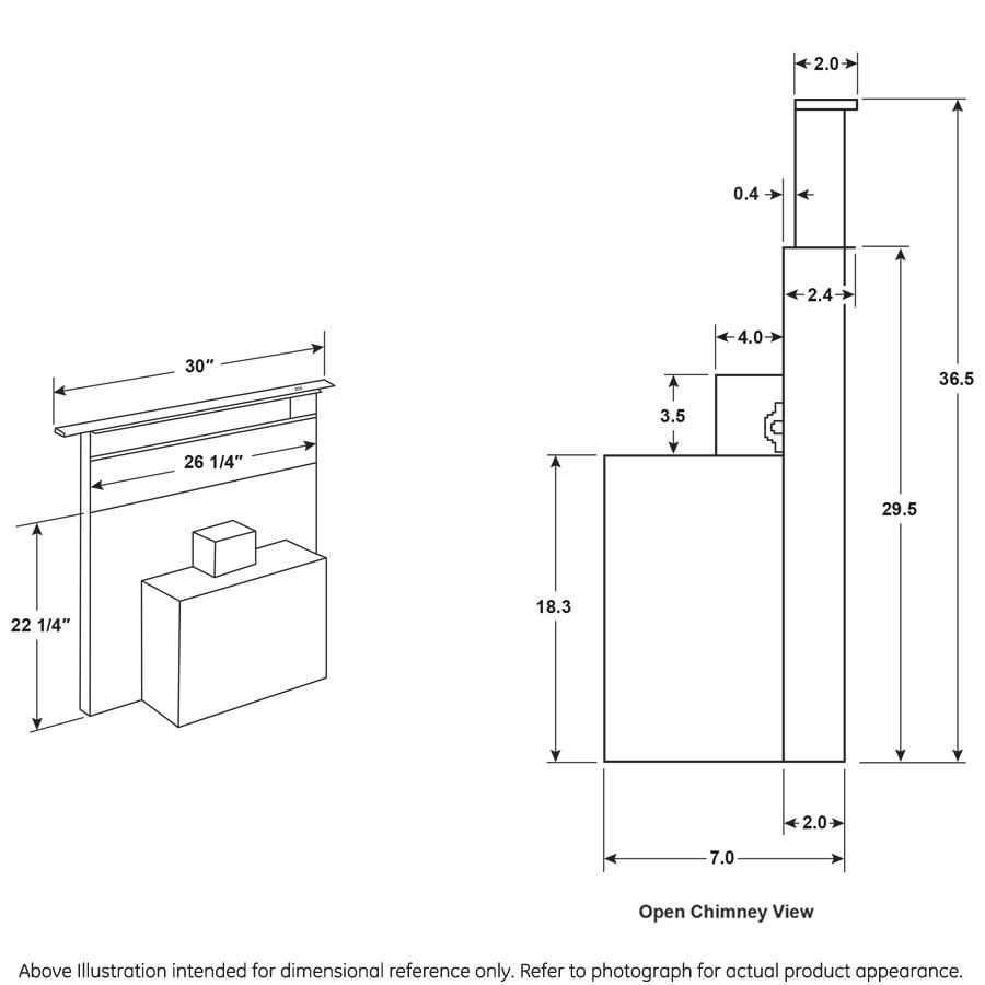 "Model: UVD6301DPBB   Cafe Universal 30"" Telescopic Downdraft System"