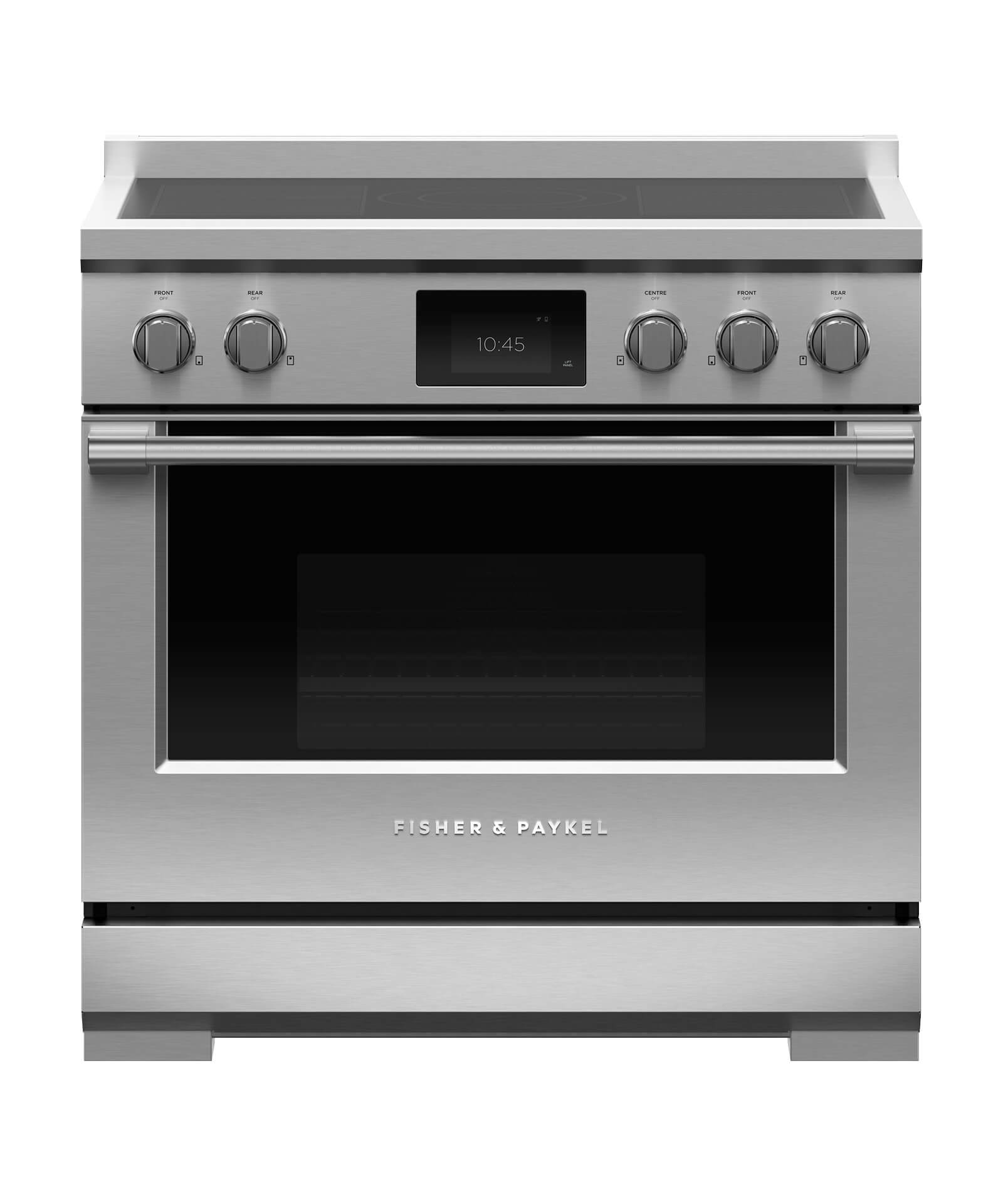 "Model: RIV3-365 | Fisher and Paykel Induction Range, 36"", 5 Zones"