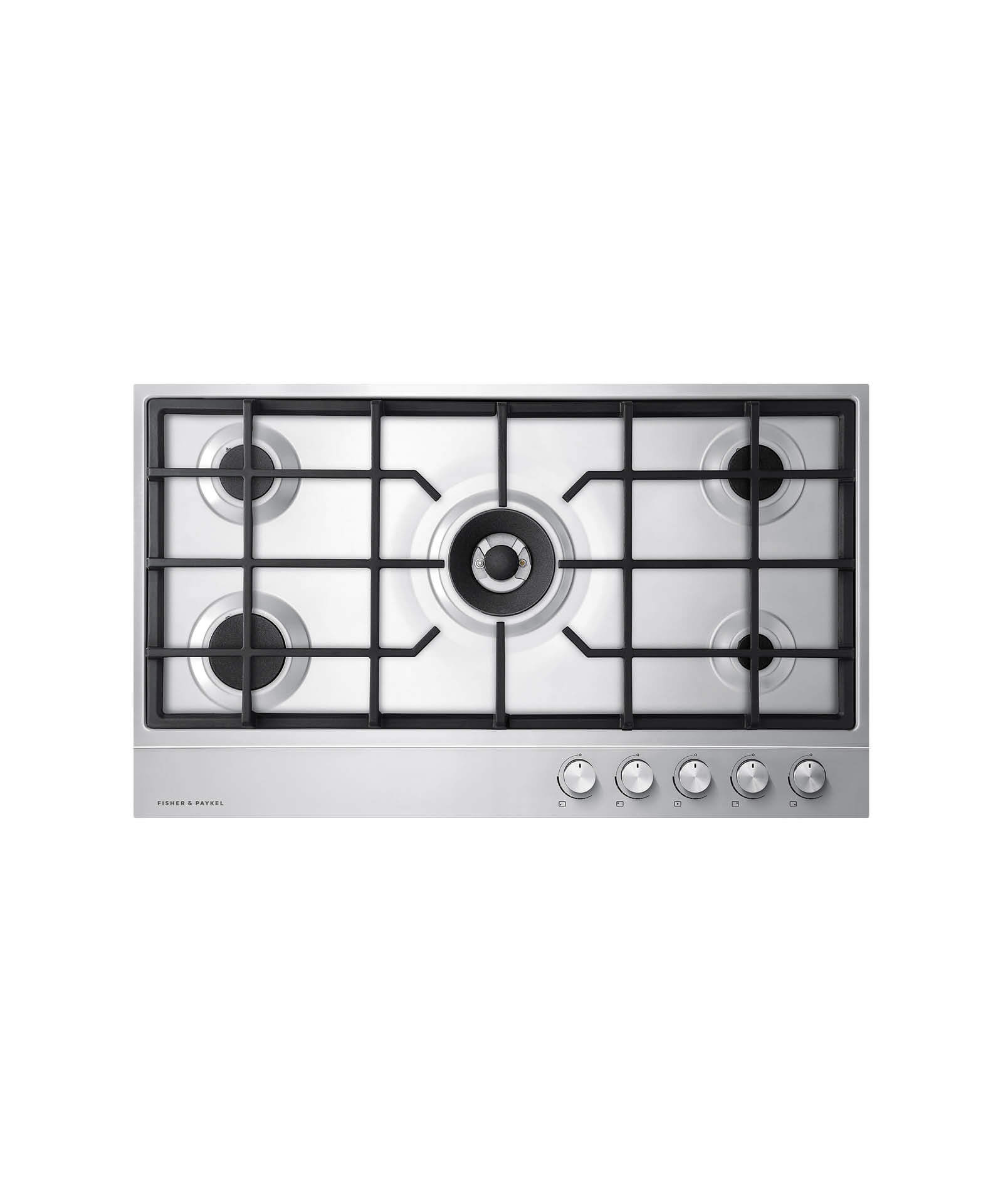 "Fisher and Paykel Gas on Steel Cooktop 36"" 5 Burner (LPG)"