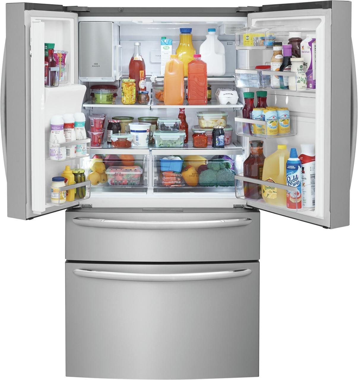 Model: FG4H2272UF | Frigidaire Gallery 21.4 Cu. Ft. Counter-Depth 4-Door French Door Refrigerator