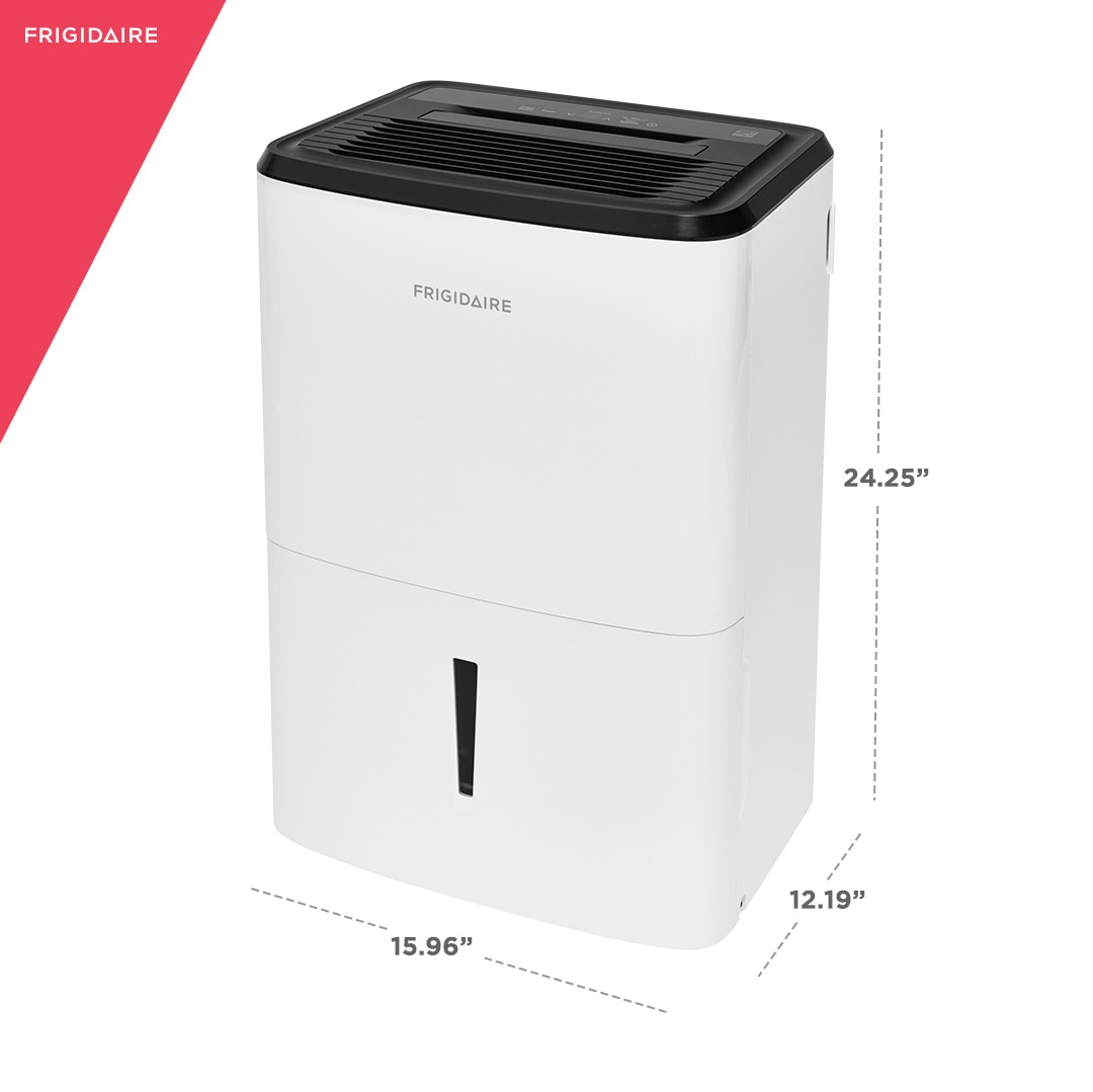 Model: FFAD5033W1 | Frigidaire High Humidity 50 Pint Capacity Dehumidifier