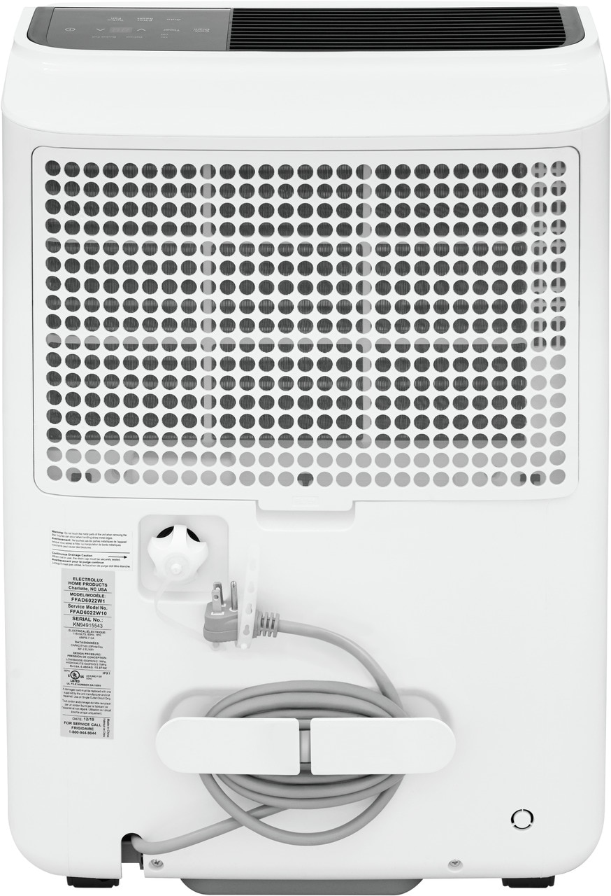 Model: FFAD6022W1 | Frigidaire High Humidity 60 Pint Capacity Dehumidifier