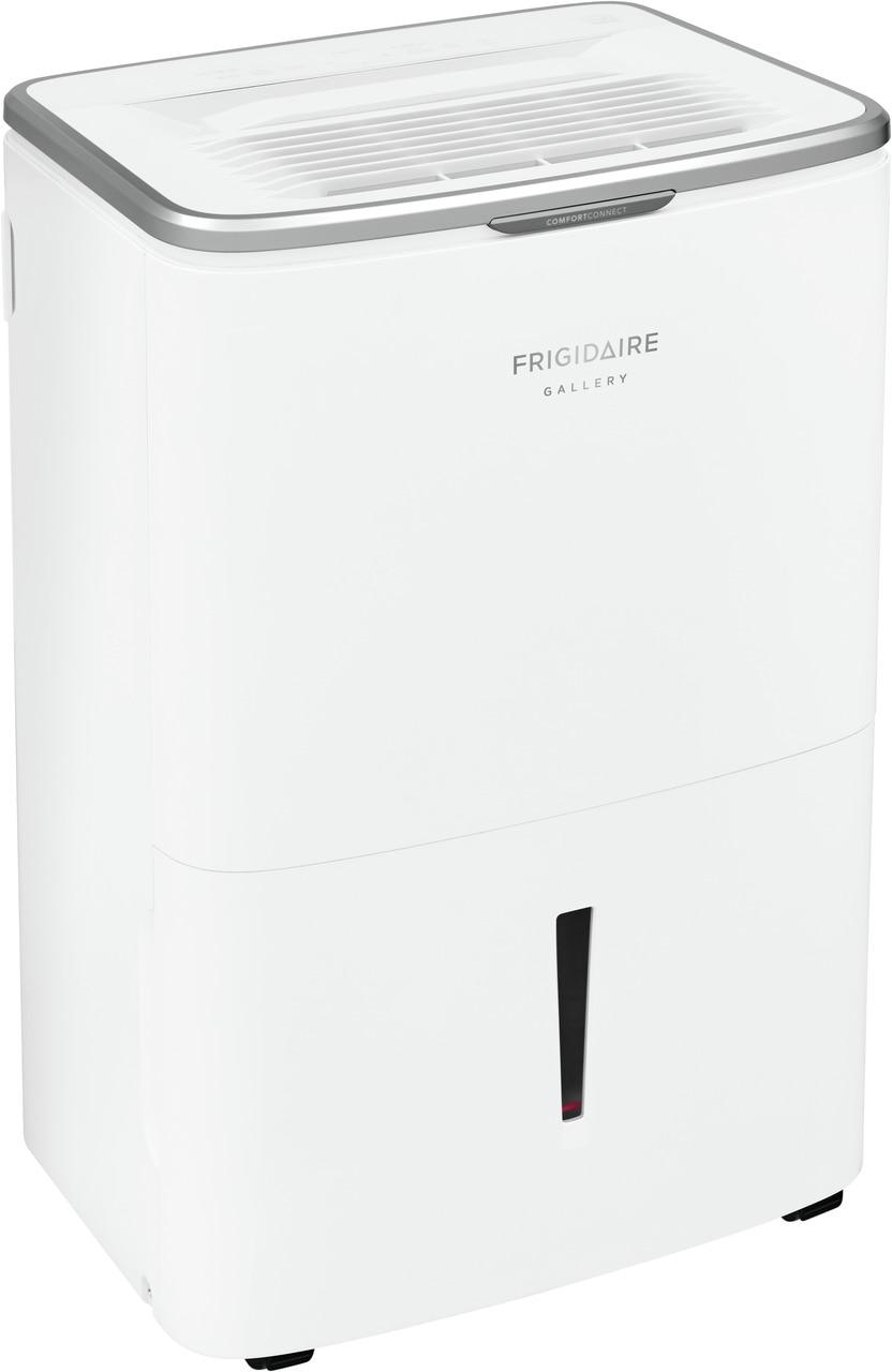 Model: FGAC5044W1 | Frigidaire Gallery High Humidity 50 Pint Capacity Dehumidifier with Wi-Fi