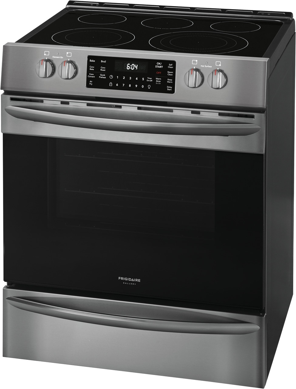 "Model: FGEH3047VD | Frigidaire Gallery 30"" Front Control Electric Range with Air Fry"