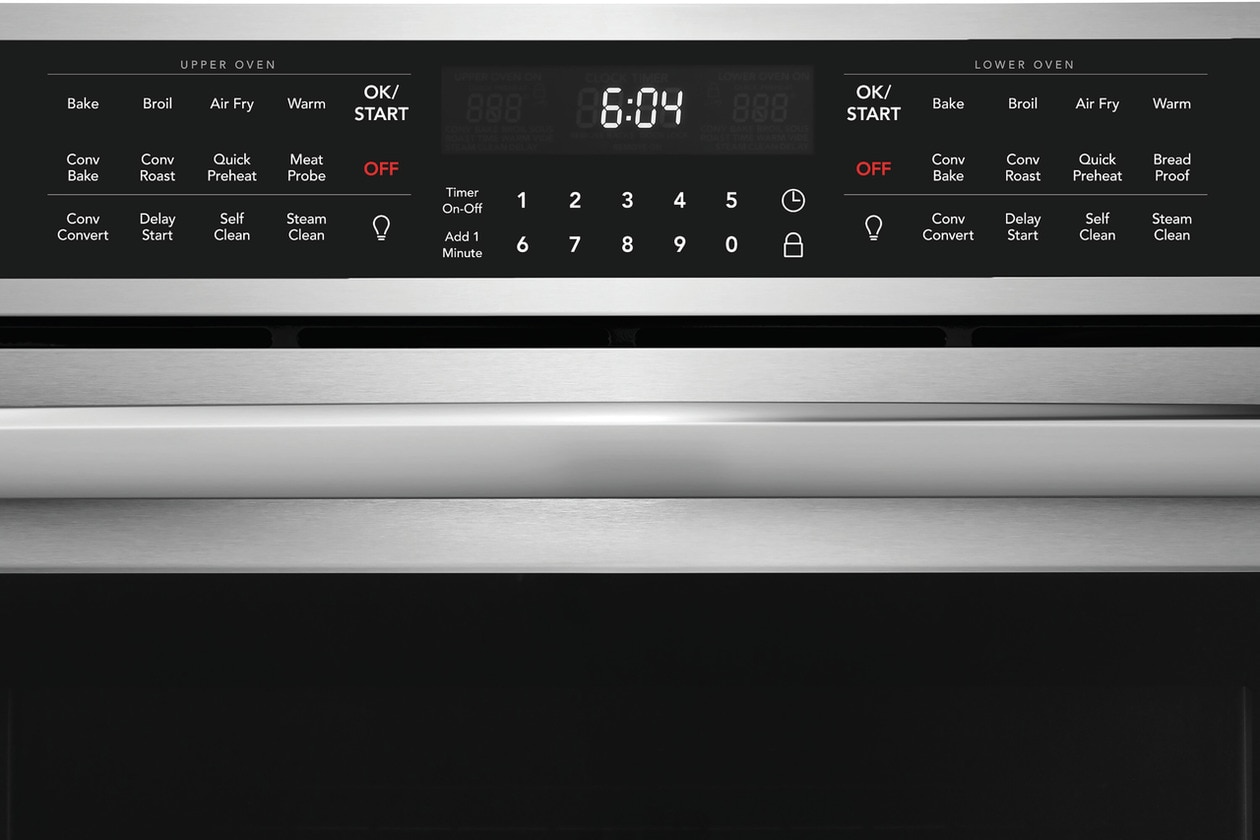 "Model: FGET3069UF | Frigidaire Gallery 30"" Double Electric Wall Oven with Air Fry"
