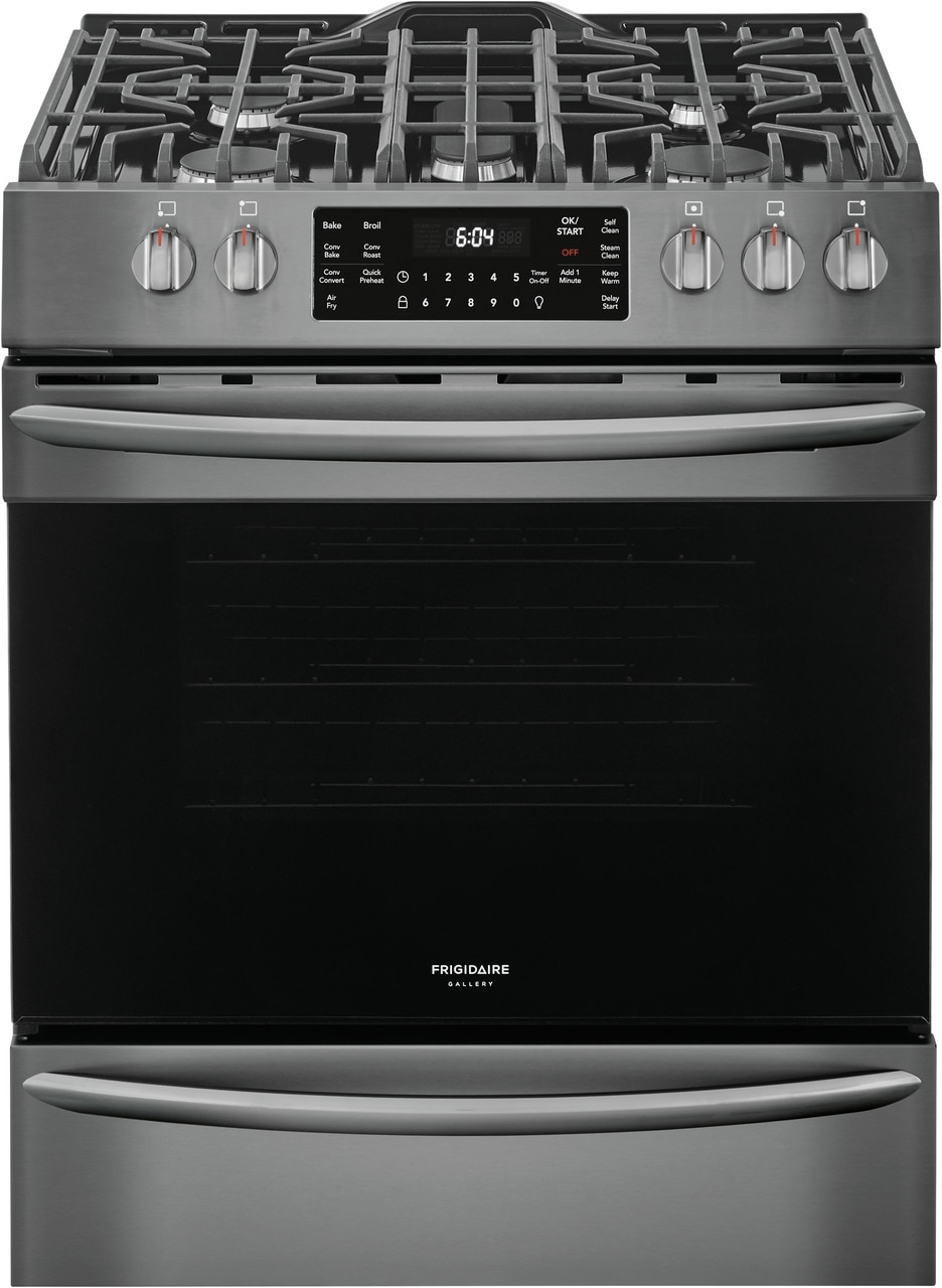 """Frigidaire Gallery 30"""" Front Control Gas Range with Air Fry"""