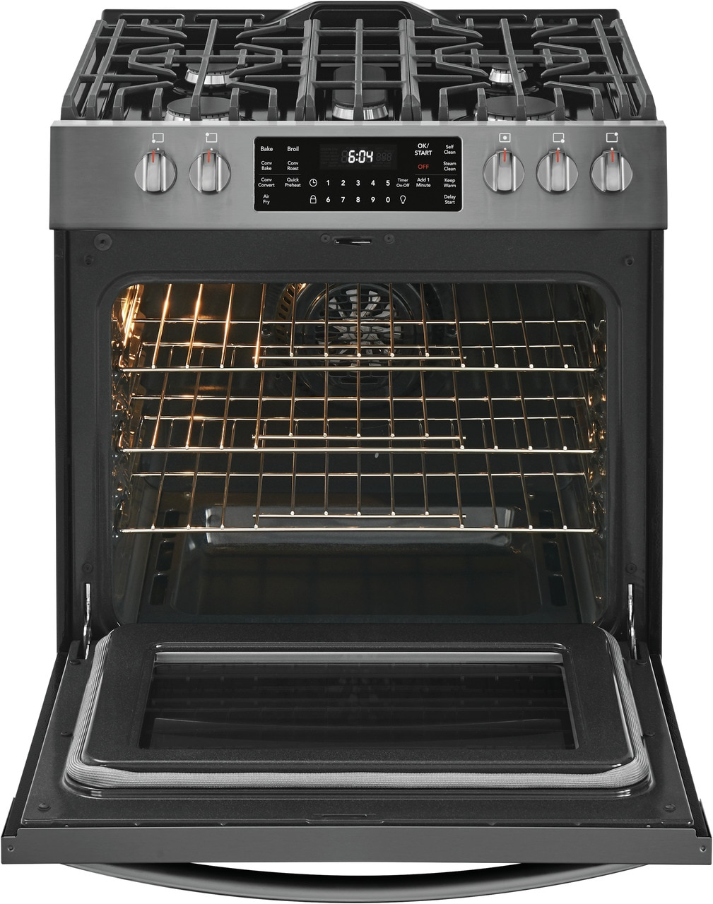 "Model: FGGH3047VD | Frigidaire Gallery 30"" Front Control Gas Range with Air Fry"