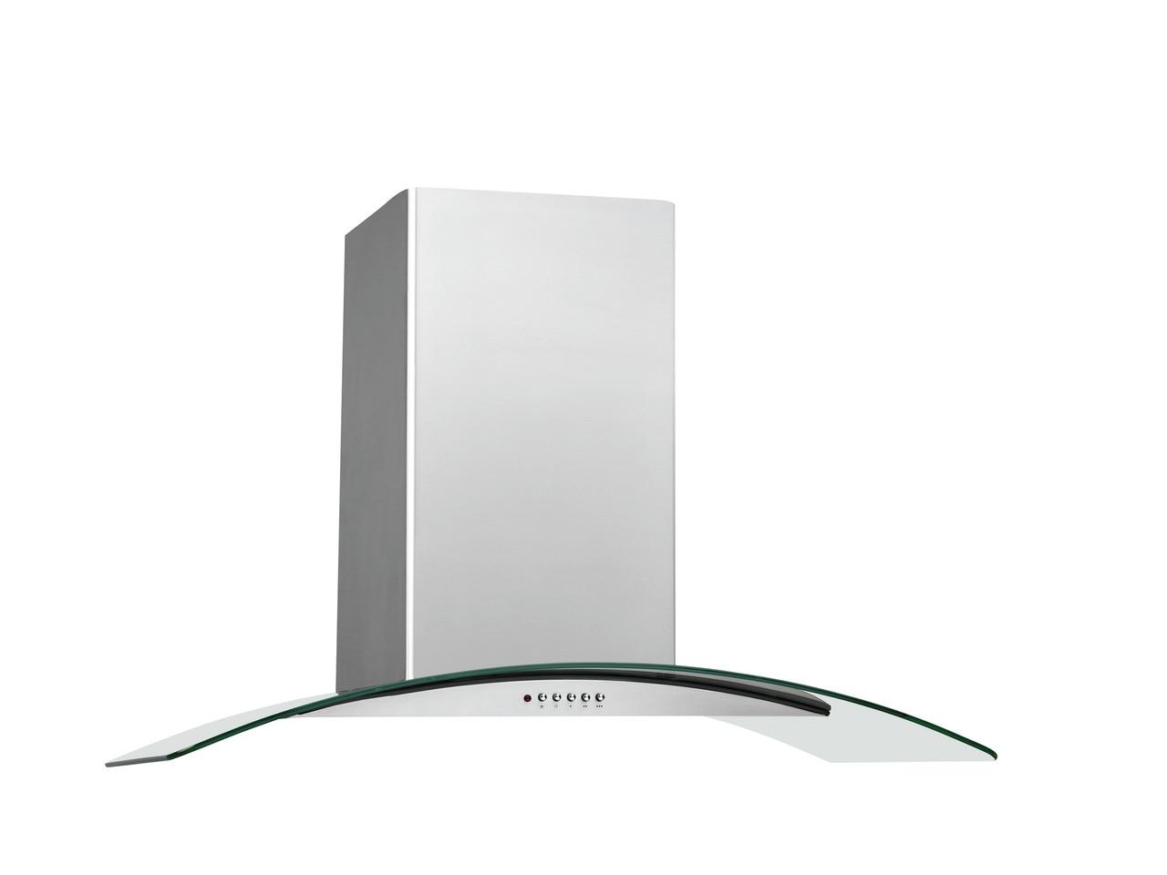 "Model: FHWC3660LS | Frigidaire 36"" Glass Canopy Wall-Mount Hood"