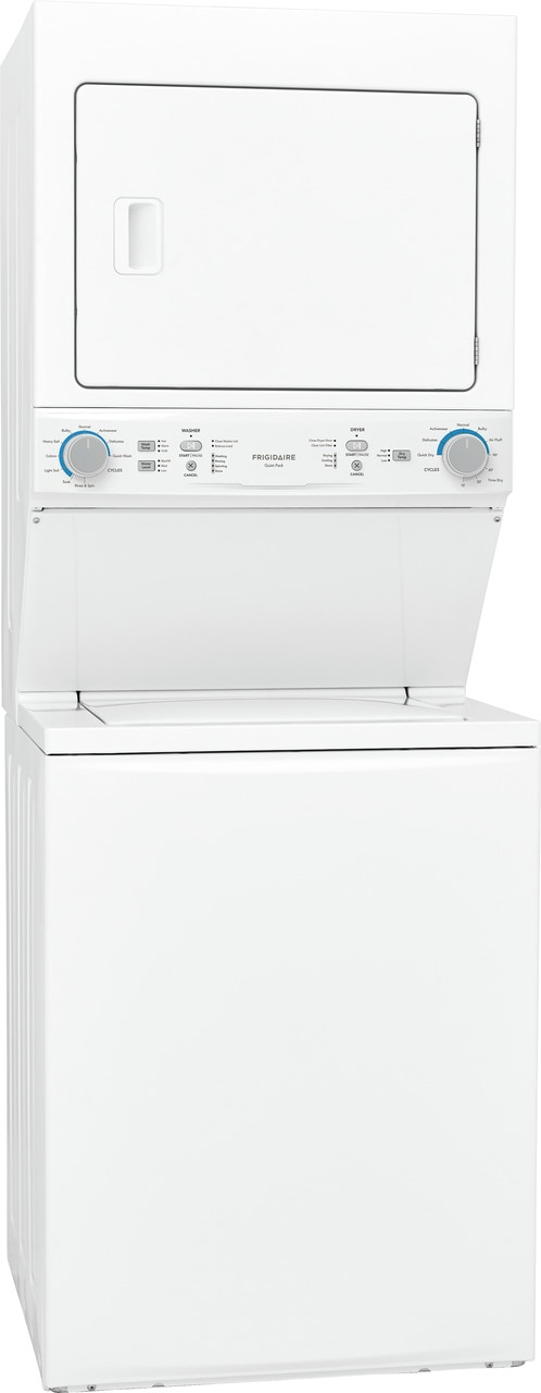 Model: FLCE7522AW   Frigidaire Electric Washer/Dryer Laundry Center - 3.9 Cu. Ft Washer and 5.5 Cu. Ft. Dryer