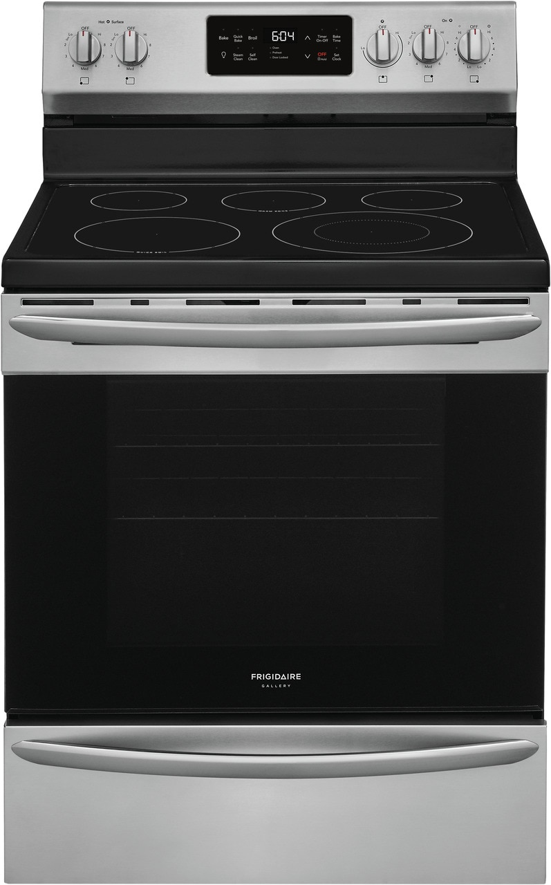 "Frigidaire Gallery 30"" Freestanding Electric Range with Steam Clean"