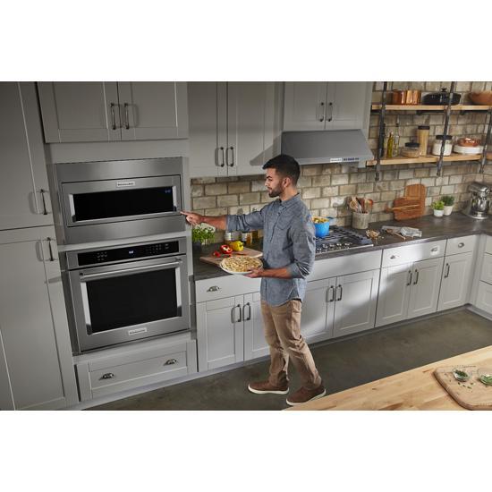 Model: KMBT5511KSS | KitchenAid 1000 Watt Built-In Low Profile Microwave with Standard Trim Kit