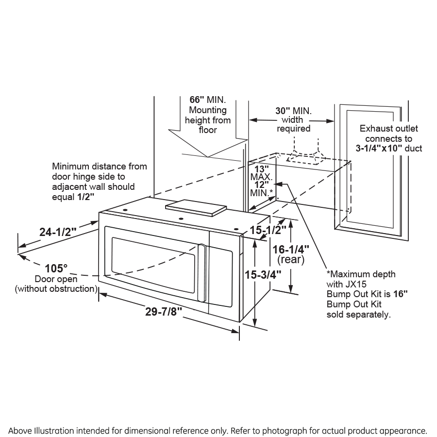Model: PVM9179DKBB   GE Profile GE Profile™ 1.7 Cu. Ft. Convection Over-the-Range Microwave Oven