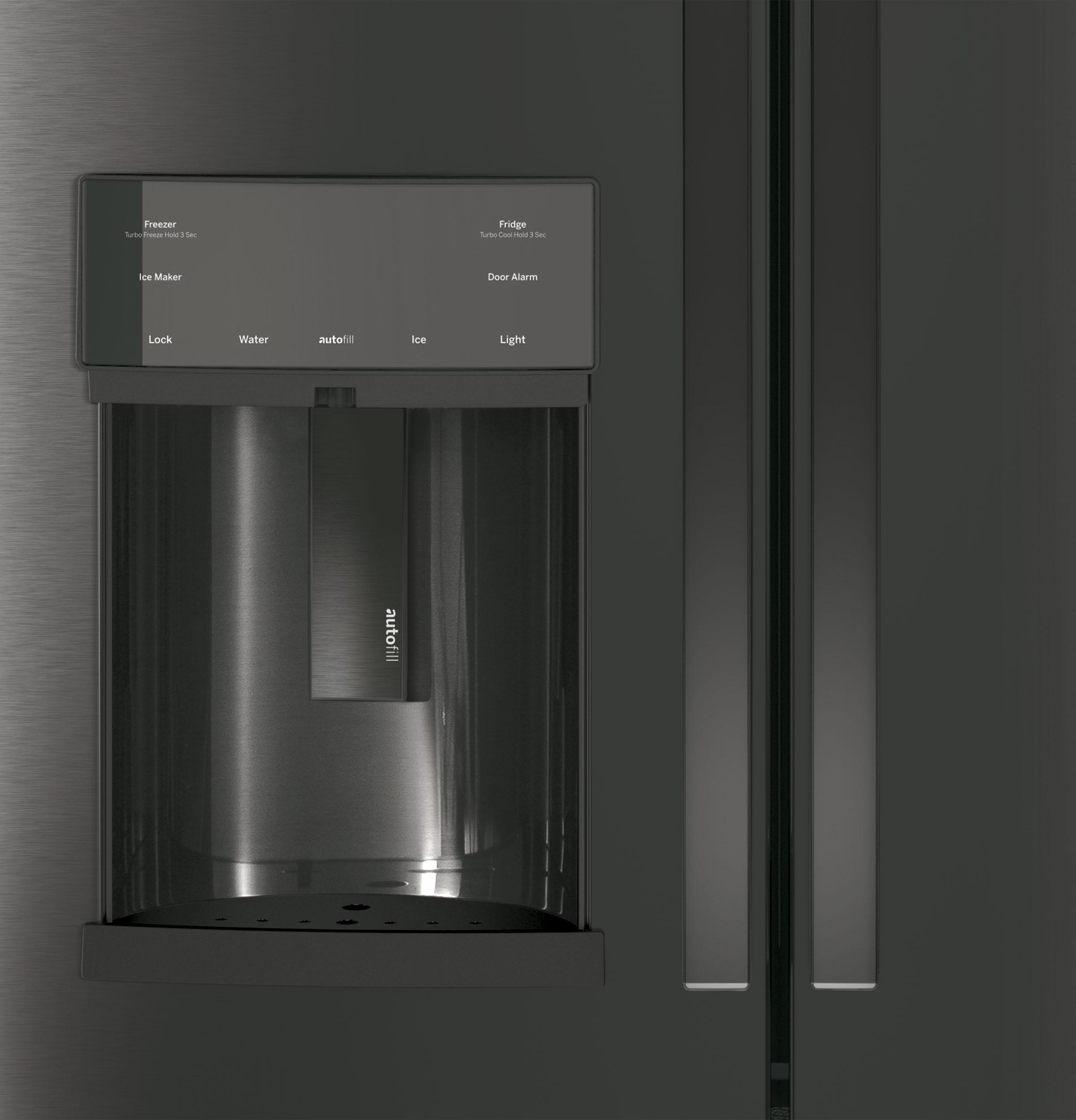 Model: PYD22KBLTS | GE Profile GE Profile™ Series 22.1 Cu. Ft. Counter-Depth French-Door Refrigerator with Door In Door and Hands-Free AutoFill