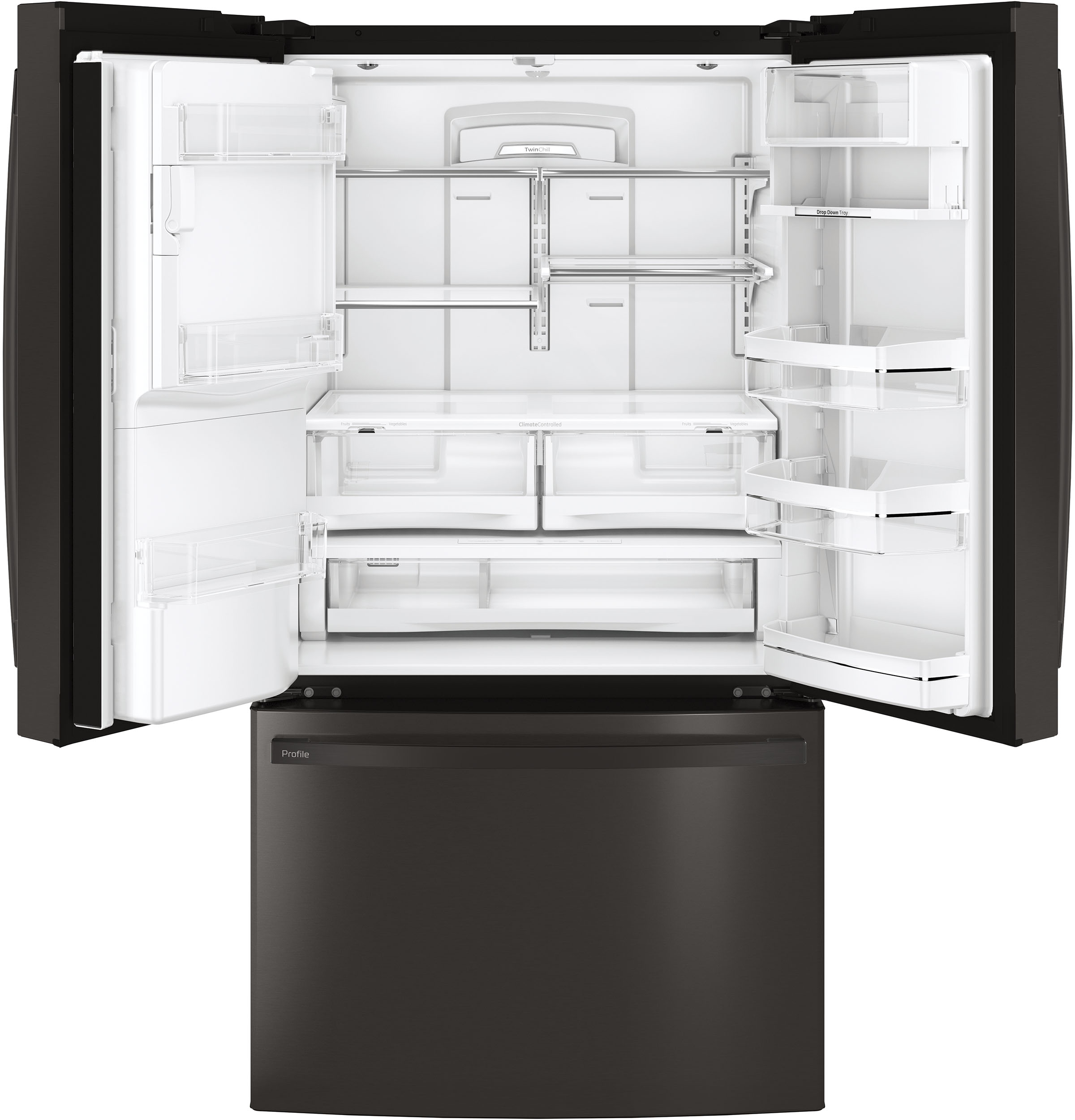 Model: PFE28KBLTS | GE Profile GE Profile™ Series ENERGY STAR® 27.7 Cu. Ft. French-Door Refrigerator with Hands-Free AutoFill