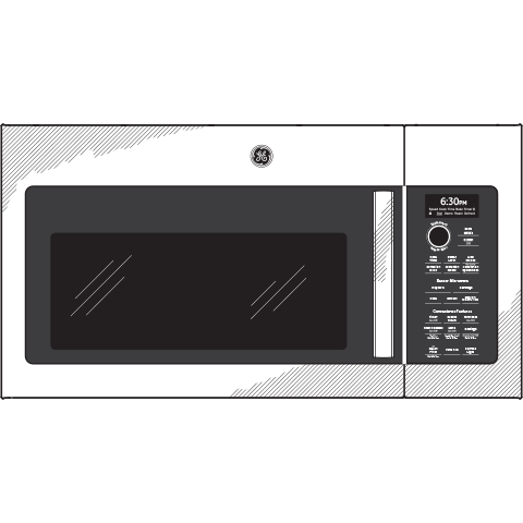Model: PVM9179BLTS | GE Profile GE Profile™ 1.7 Cu. Ft. Convection Over-the-Range Microwave Oven