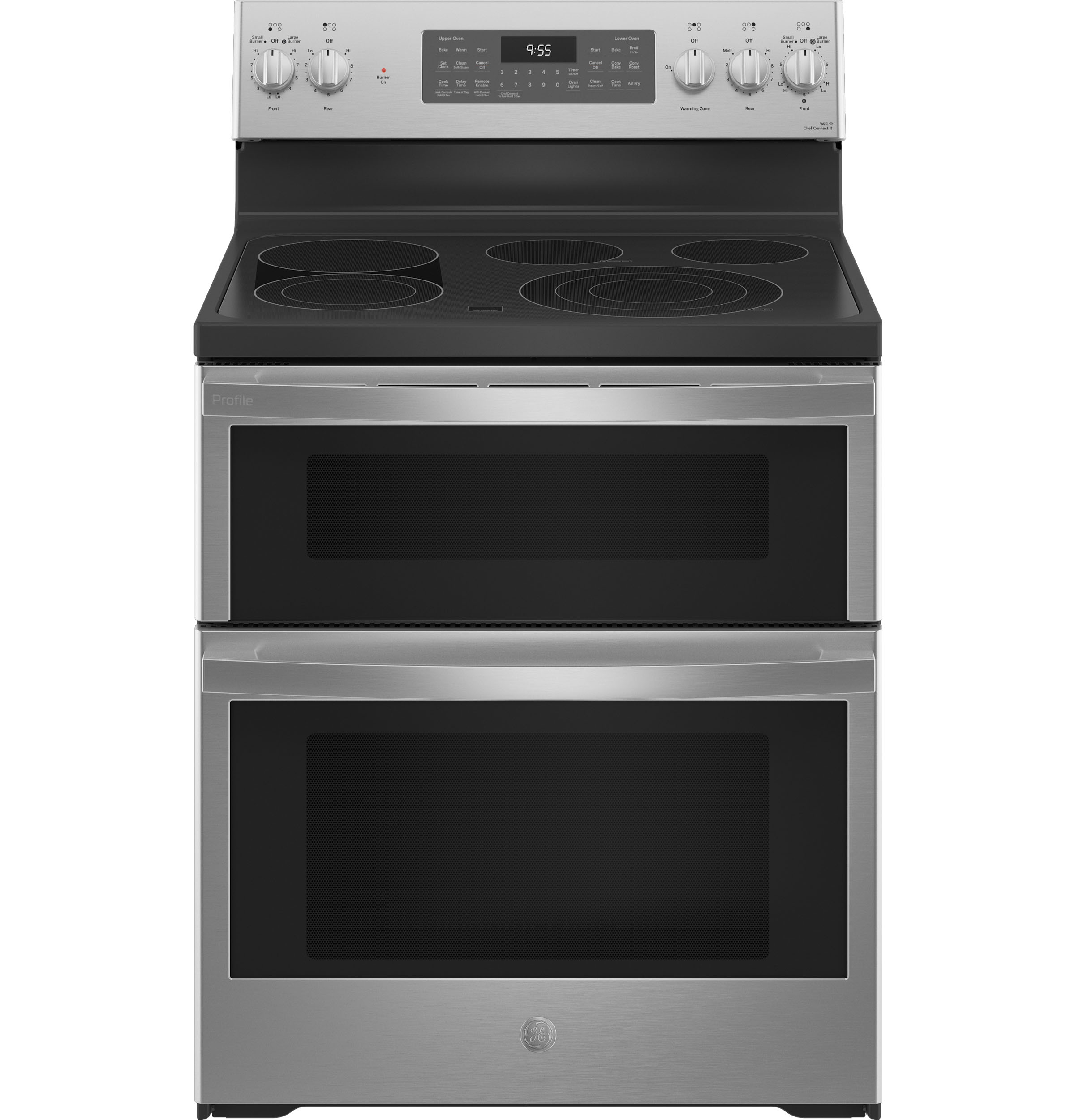 "GE Profile GE Profile™ 30"" Smart Free-Standing Electric Double Oven Convection Range with No Preheat Air Fry"