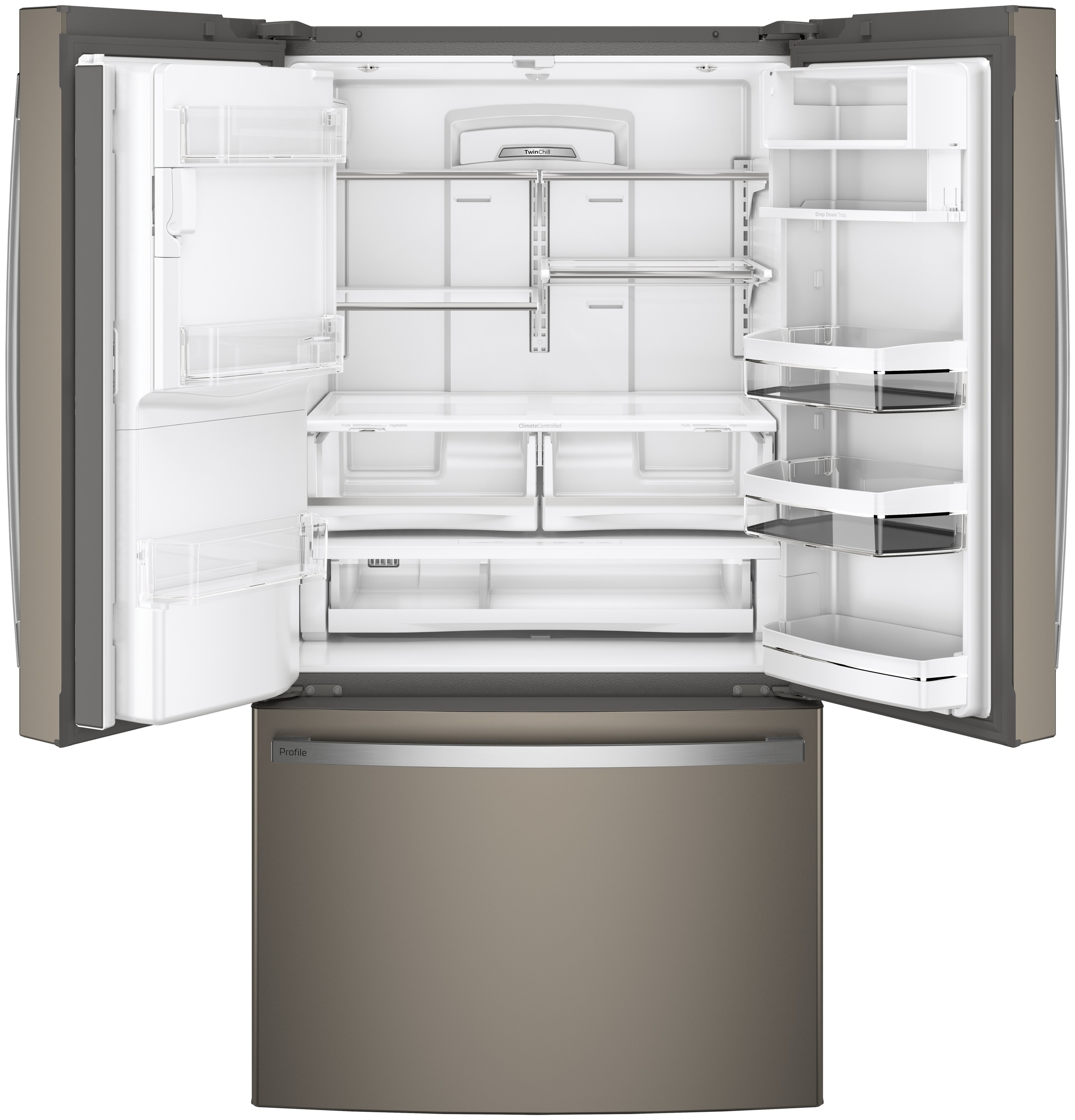 Model: PFE28KMKES | GE Profile GE Profile™ Series ENERGY STAR® 27.7 Cu. Ft. French-Door Refrigerator with Hands-Free AutoFill