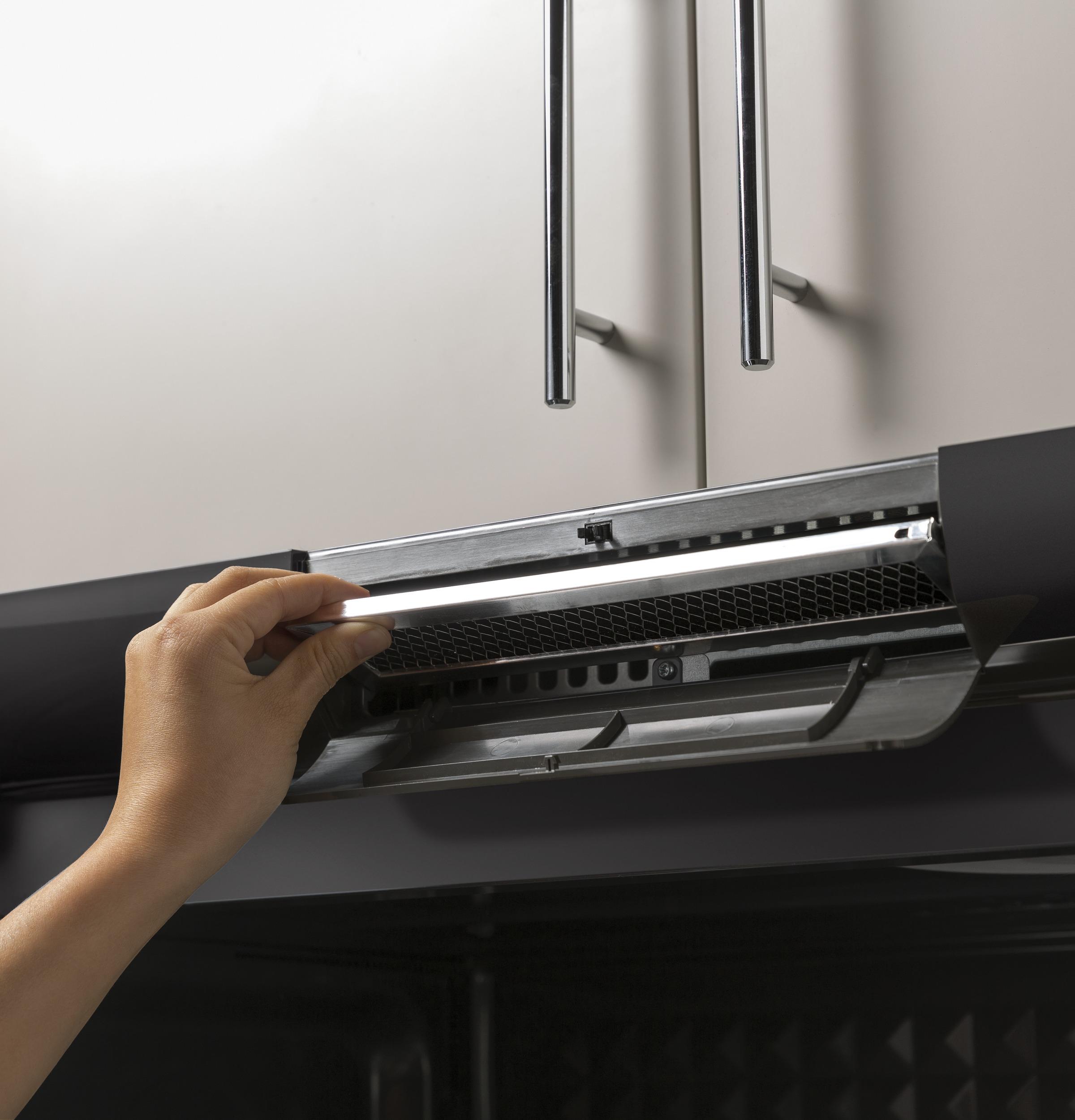 Model: PVM9005BLTS | GE Profile GE Profile™ 2.1 Cu. Ft. Over-the-Range Sensor Microwave Oven