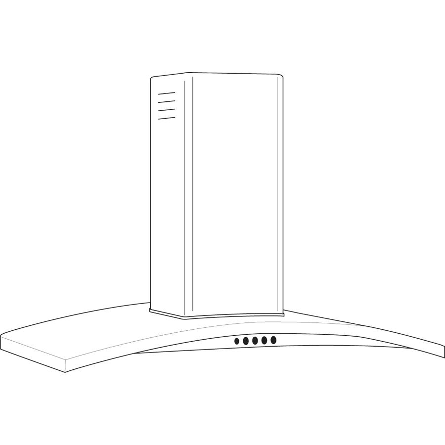 "Model: PV970NSS   GE Profile GE Profile™ 30"" Wall-Mount Chimney Hood"