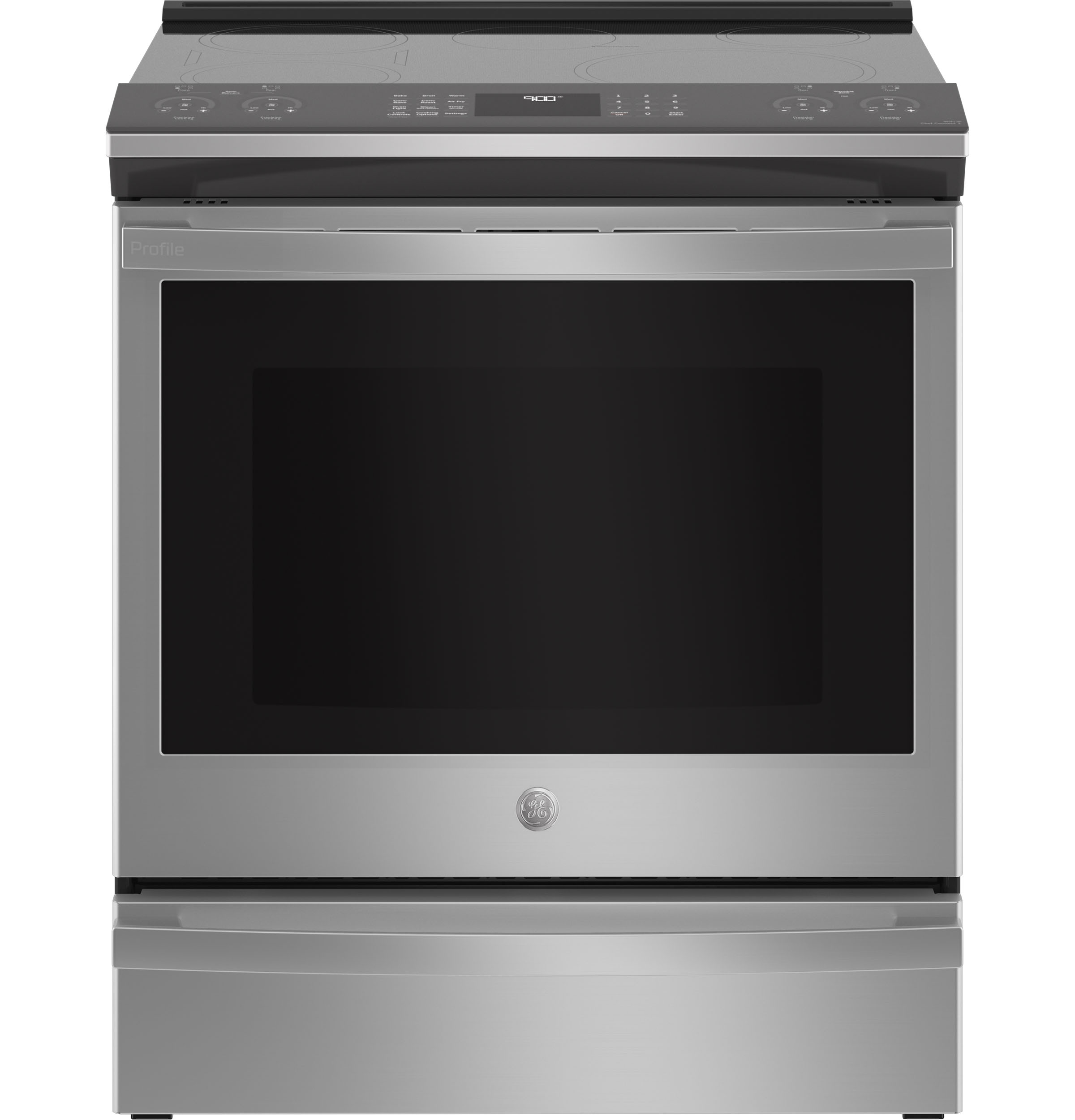 "GE Profile GE Profile™ 30"" Smart Slide-In Fingerprint Resistant Front-Control Induction and Convection Range with No Preheat Air Fry"