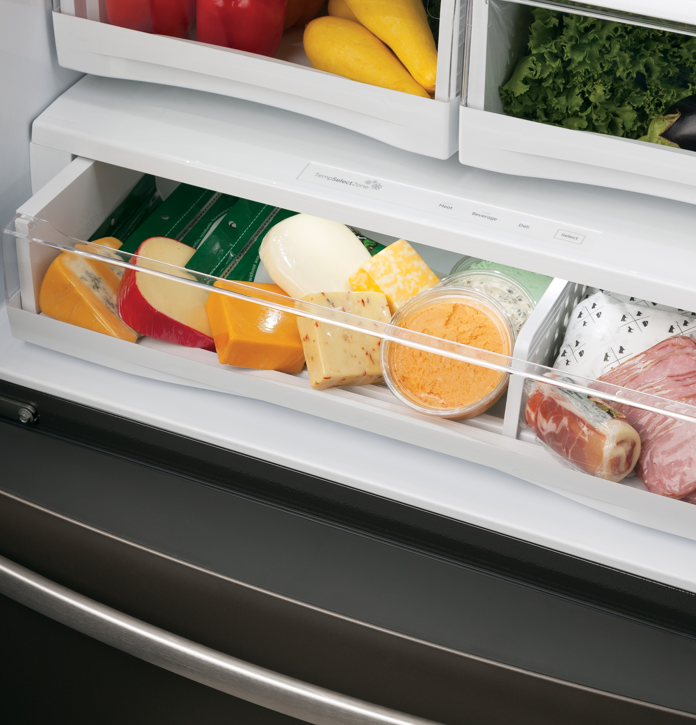 Model: PYE22KELDS | GE Profile GE Profile™ Series ENERGY STAR® 22.1 Cu. Ft. Counter-Depth French-Door Refrigerator with Hands-Free AutoFill